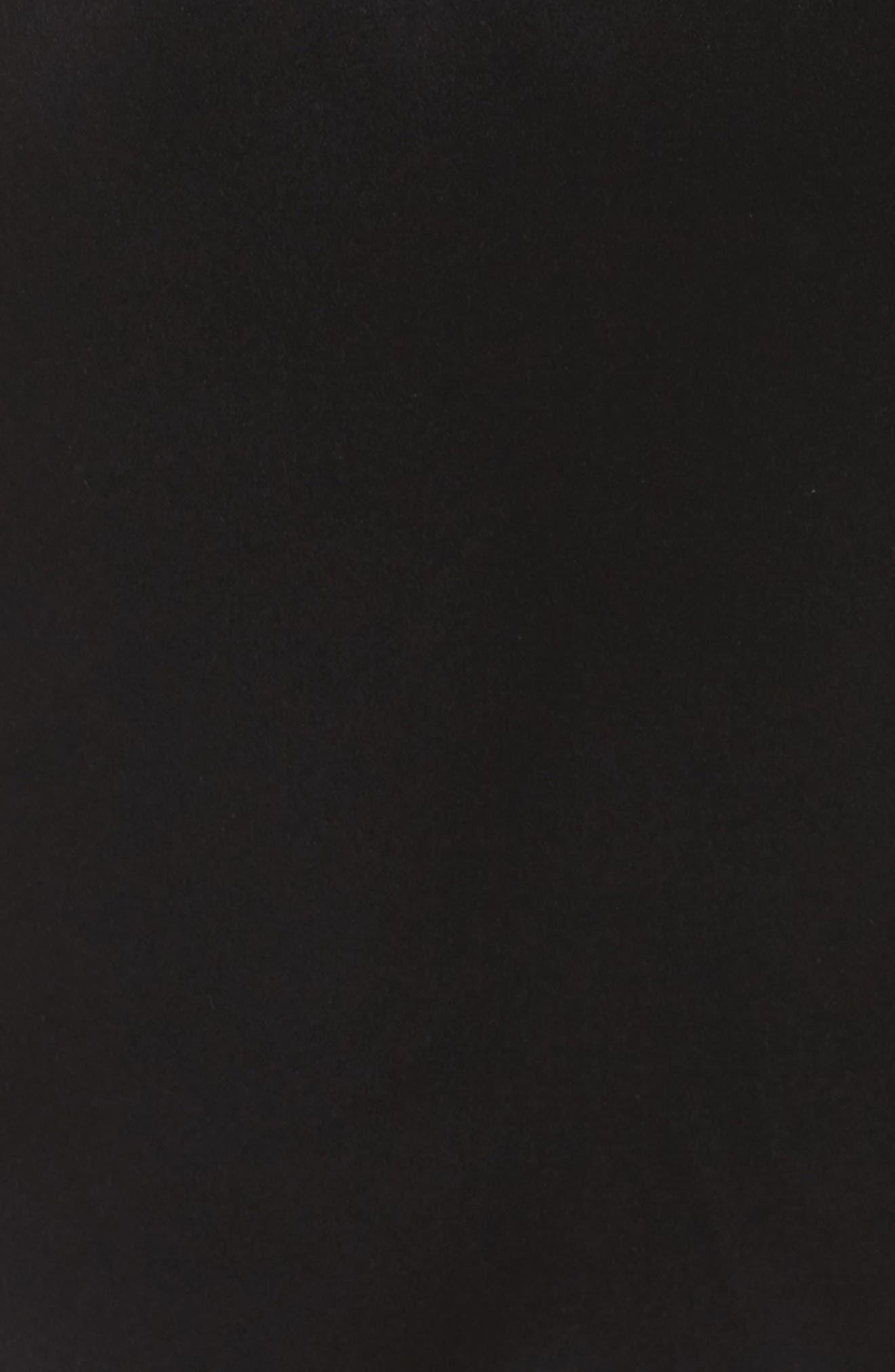 Yukata Lace & Silk Robe,                             Alternate thumbnail 5, color,                             BLACK