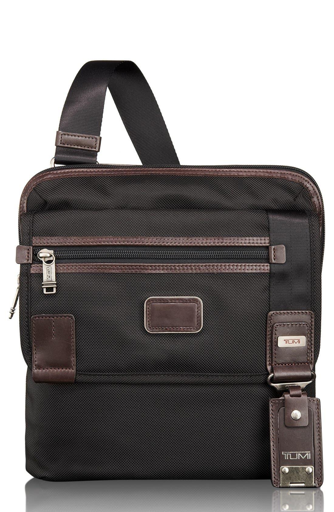 TUMI 'Alpha Bravo - Annapolis' Zip Flap Messenger Bag, Main, color, 001