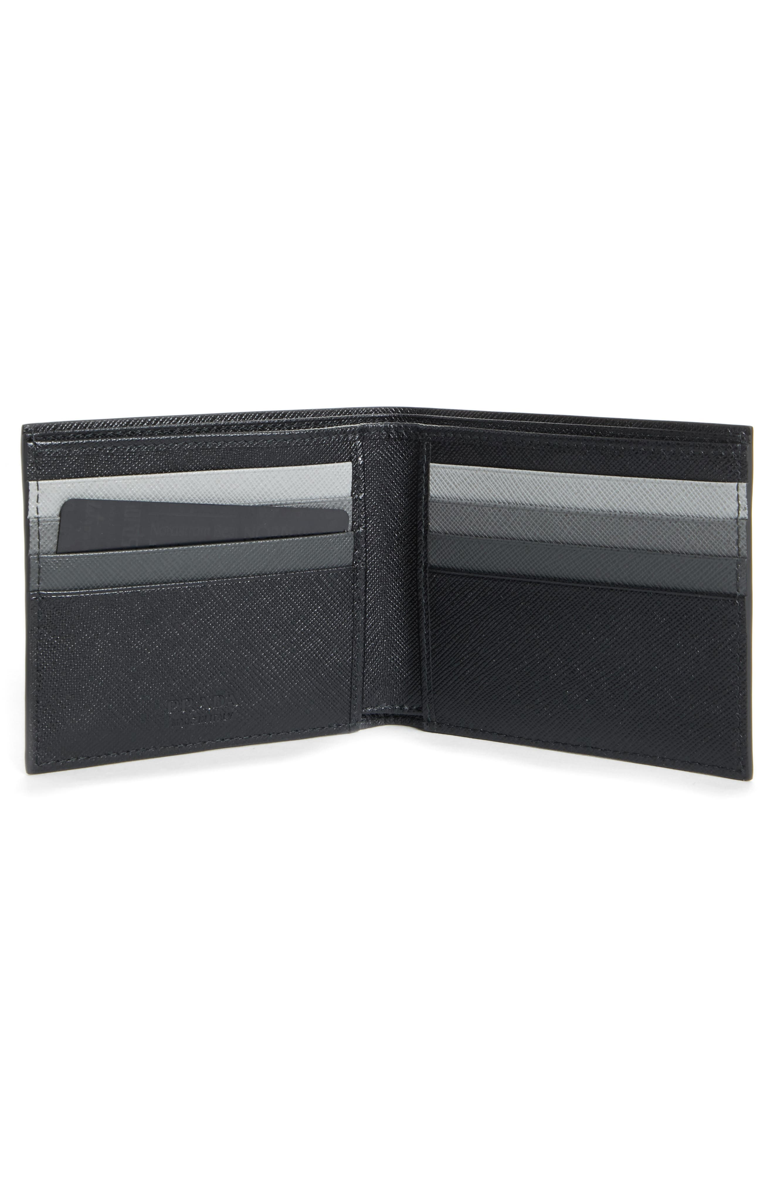 Saffiano Leather Bifold Wallet,                             Alternate thumbnail 2, color,                             001
