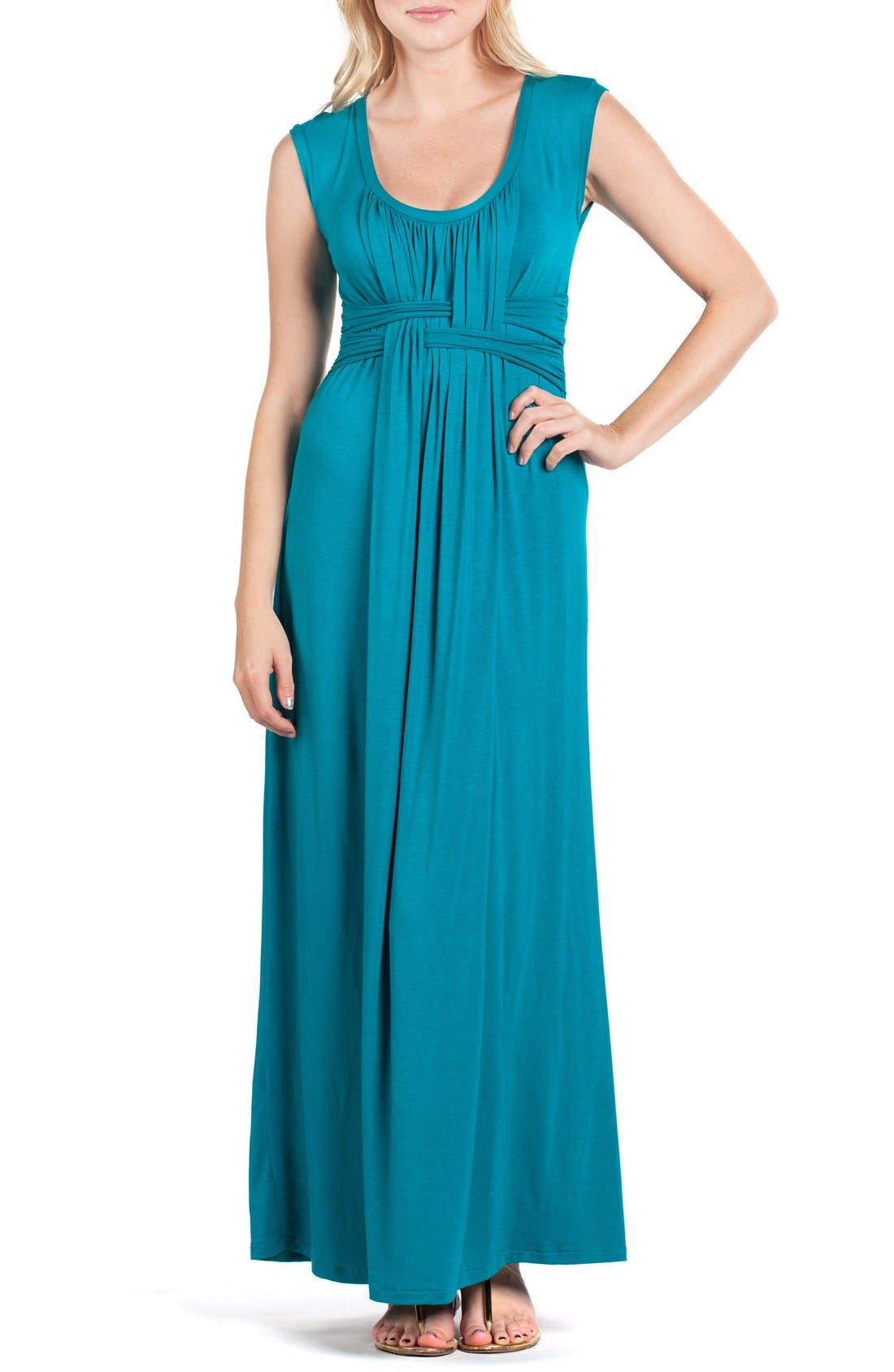 Athens Maternity/Nursing Maxi Dress,                         Main,                         color, JADE
