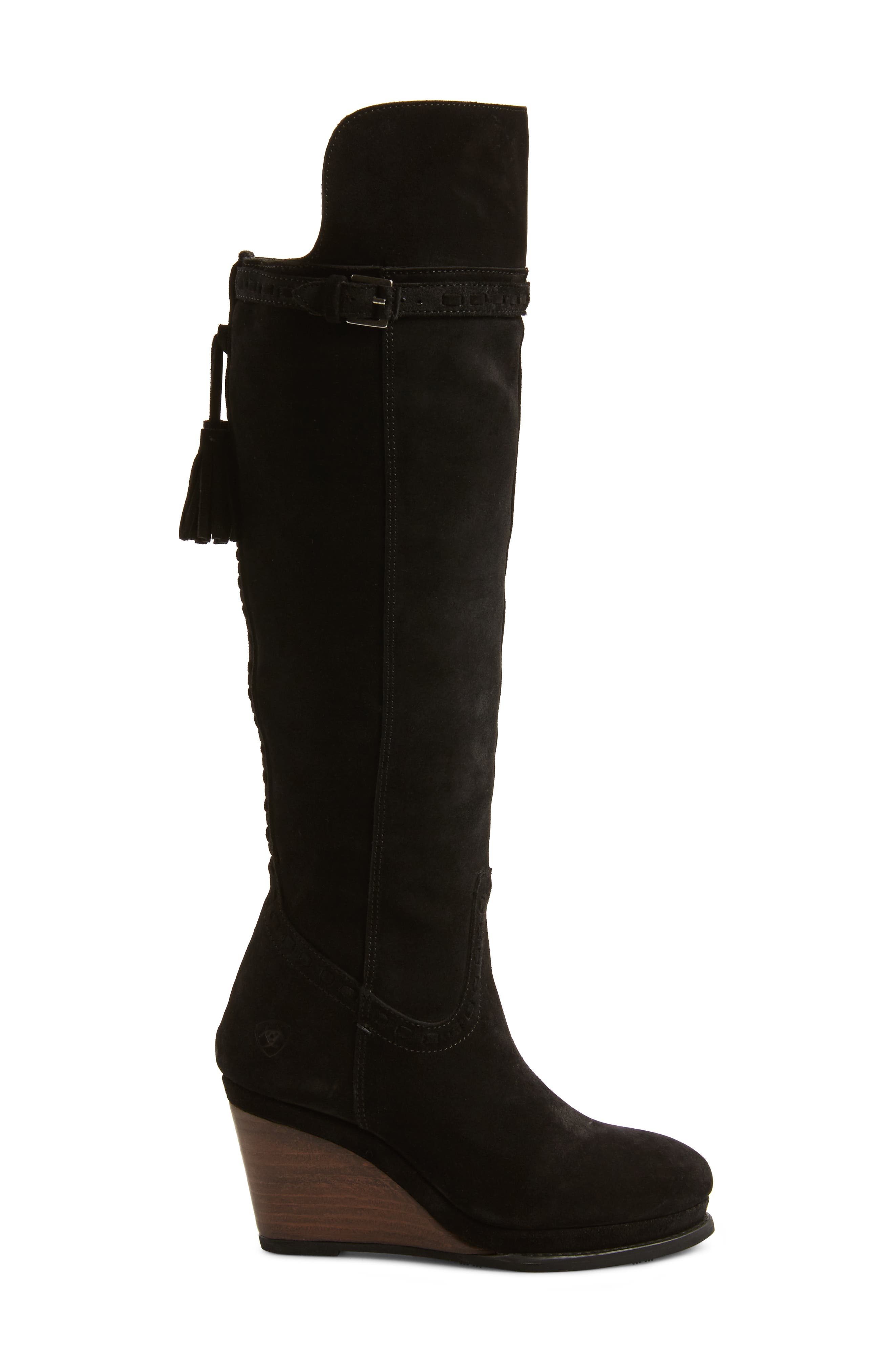 Knoxville Boot,                             Alternate thumbnail 3, color,                             BLACK LEATHER