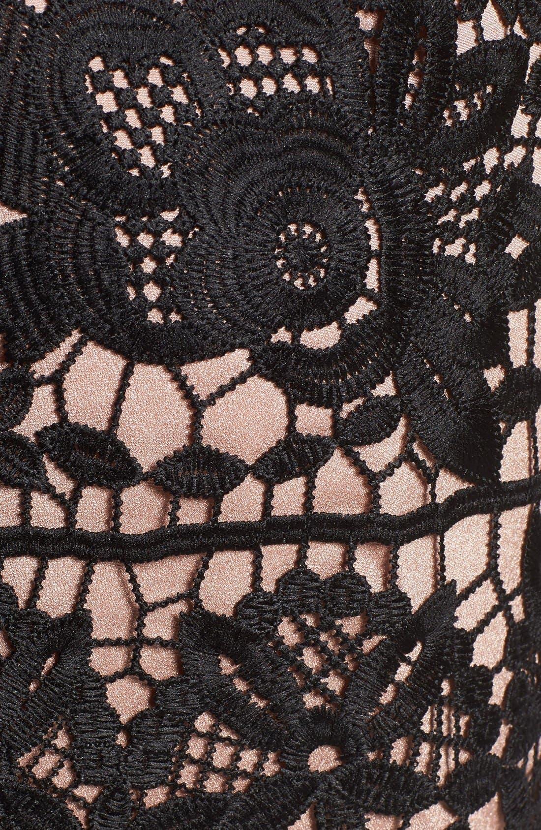 'Rodan' Lace Fit & Flare Dress,                             Alternate thumbnail 2, color,                             001