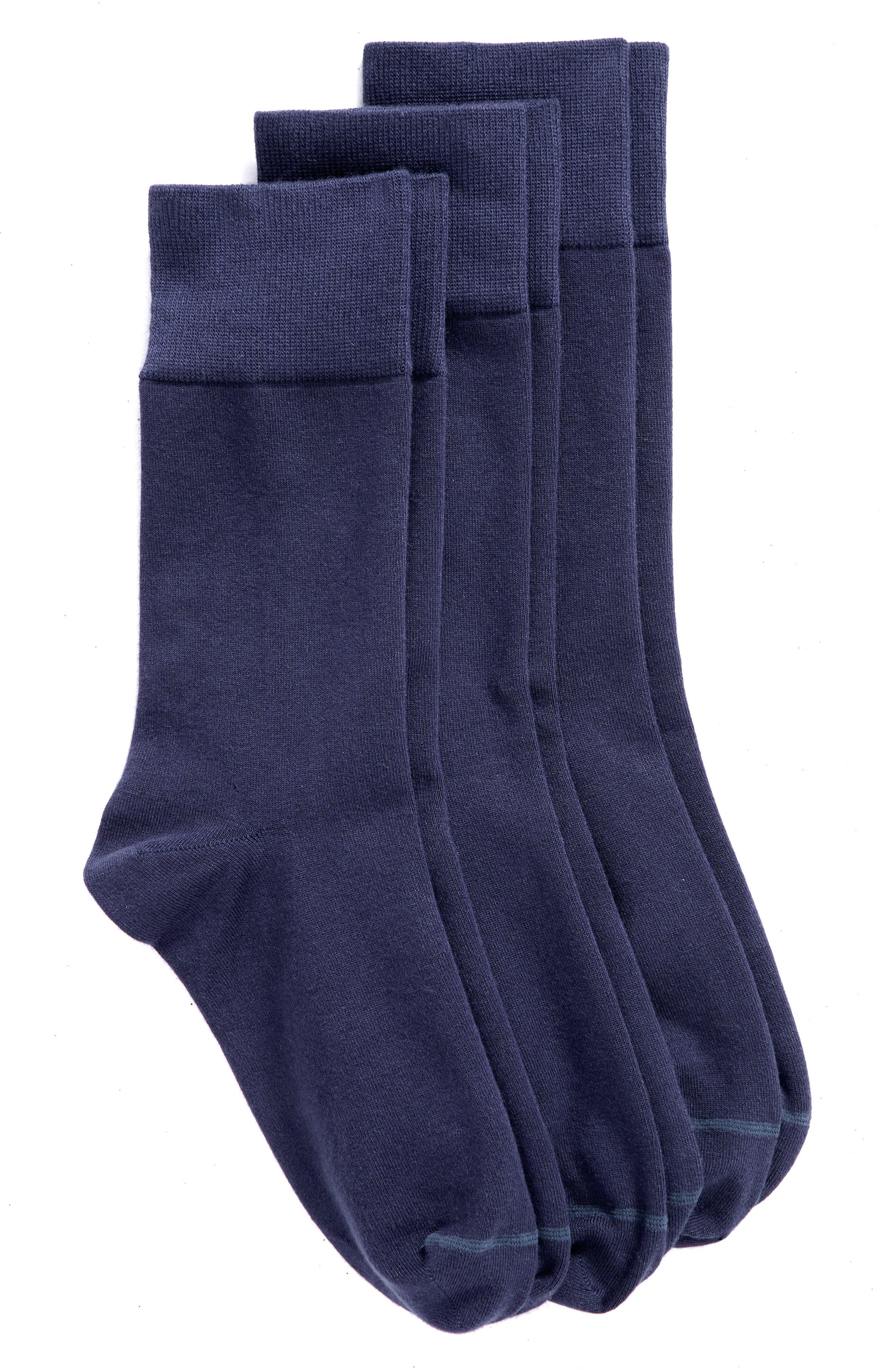 Crew Socks,                             Alternate thumbnail 3, color,                             NAVY