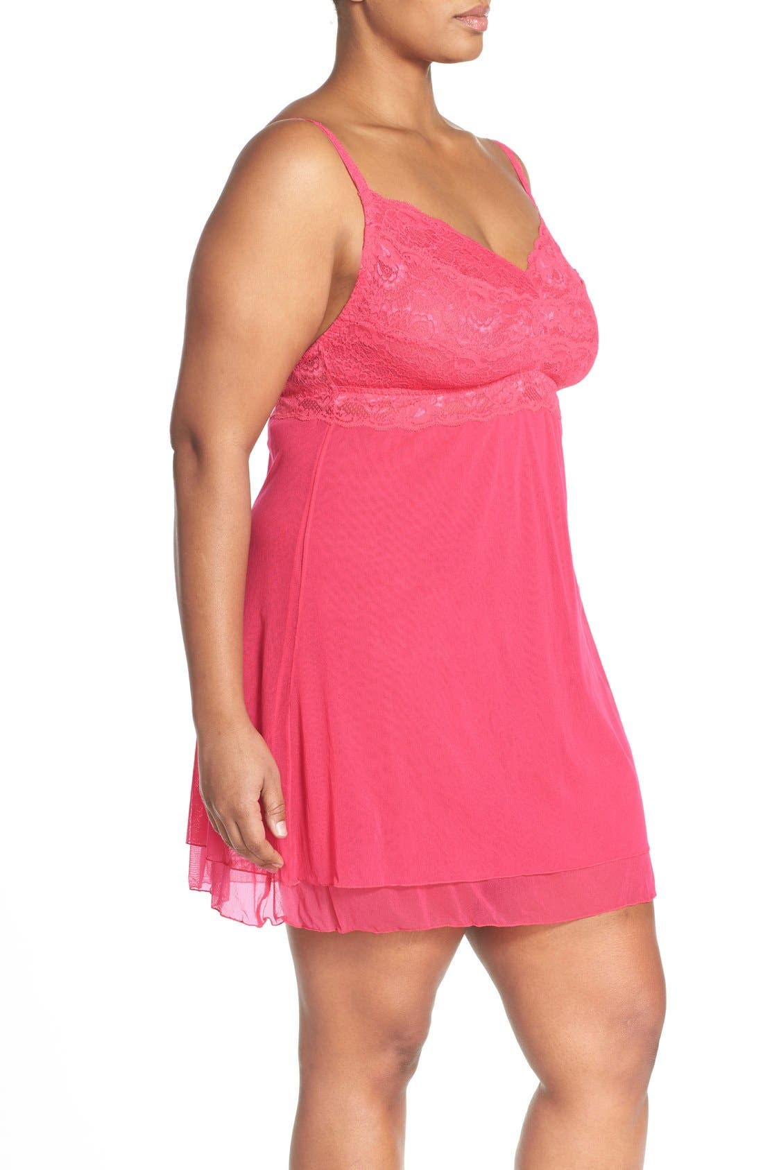 'Never Say Never' Babydoll Chemise,                             Alternate thumbnail 10, color,