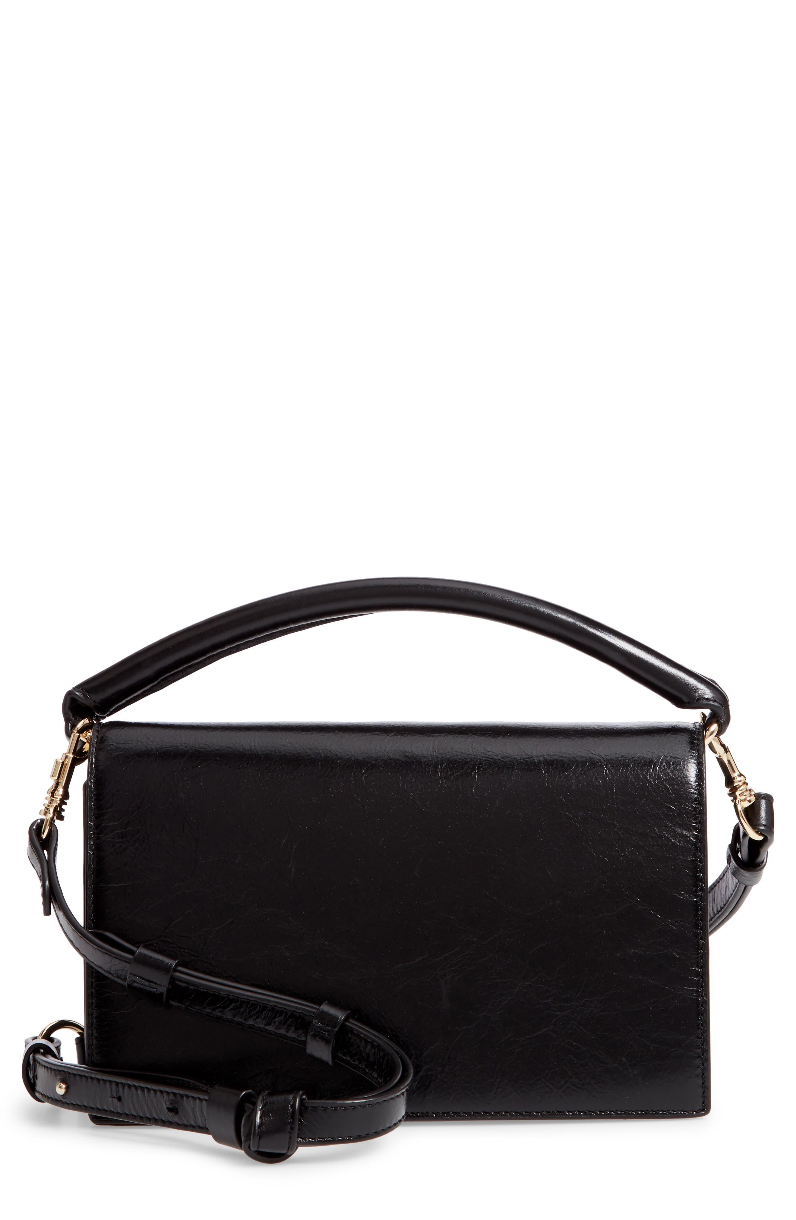 DVF Bonne Soirée Leather Top Handle Bag,                         Main,                         color, 001