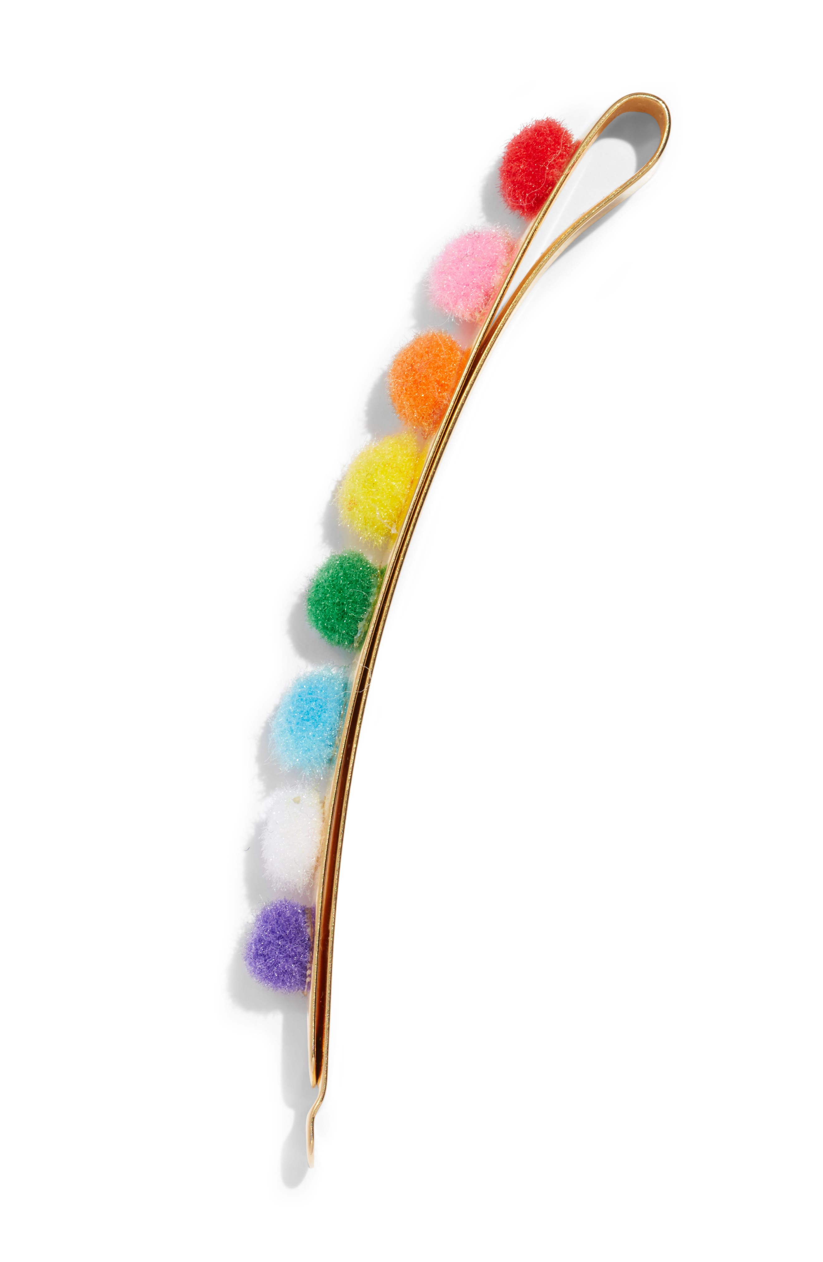 Rainbow Long Flat Pin,                             Alternate thumbnail 2, color,                             MULTI COLOR