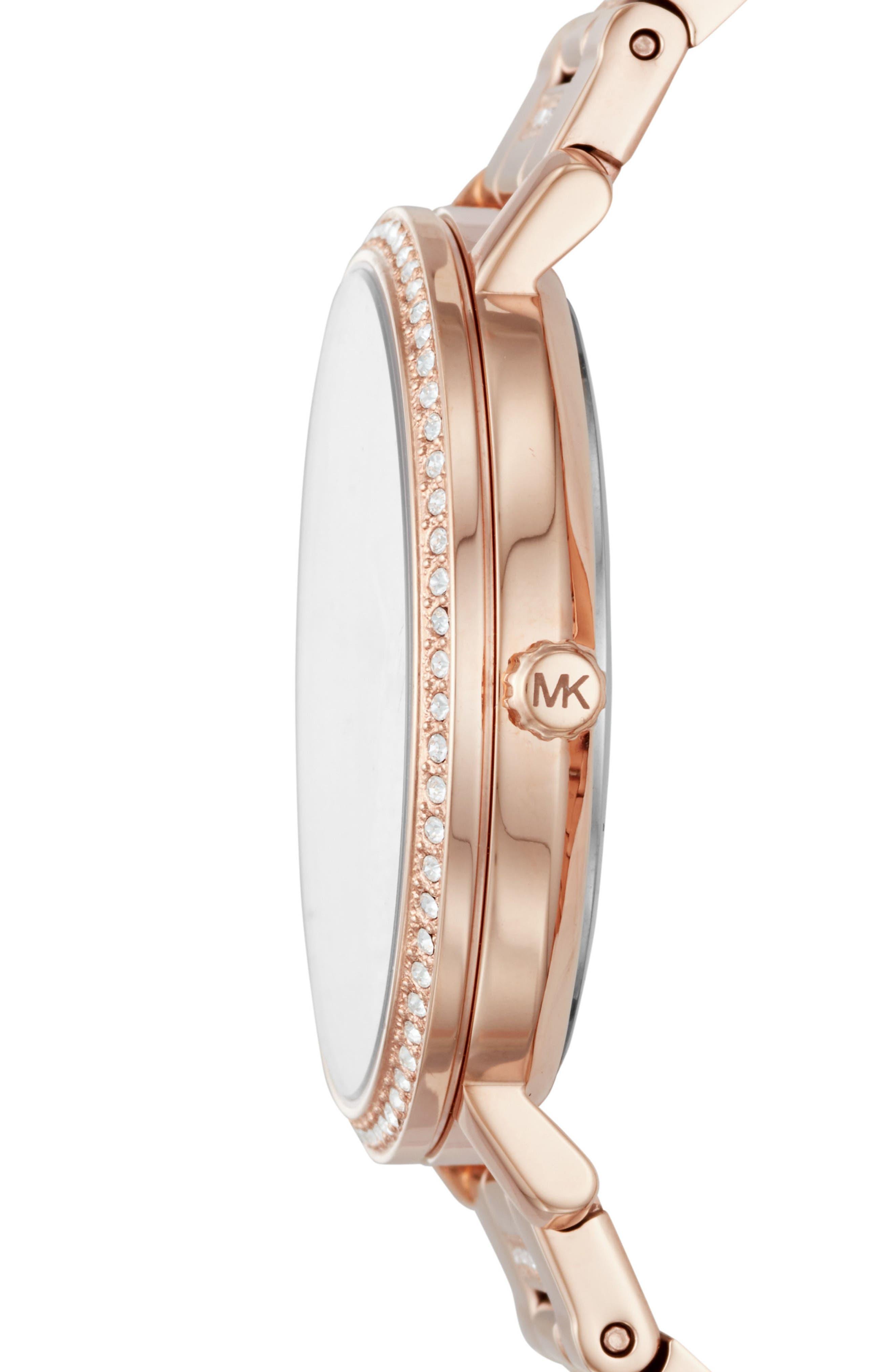 Courtney Crystal Bracelet Watch, 36mm,                             Alternate thumbnail 4, color,