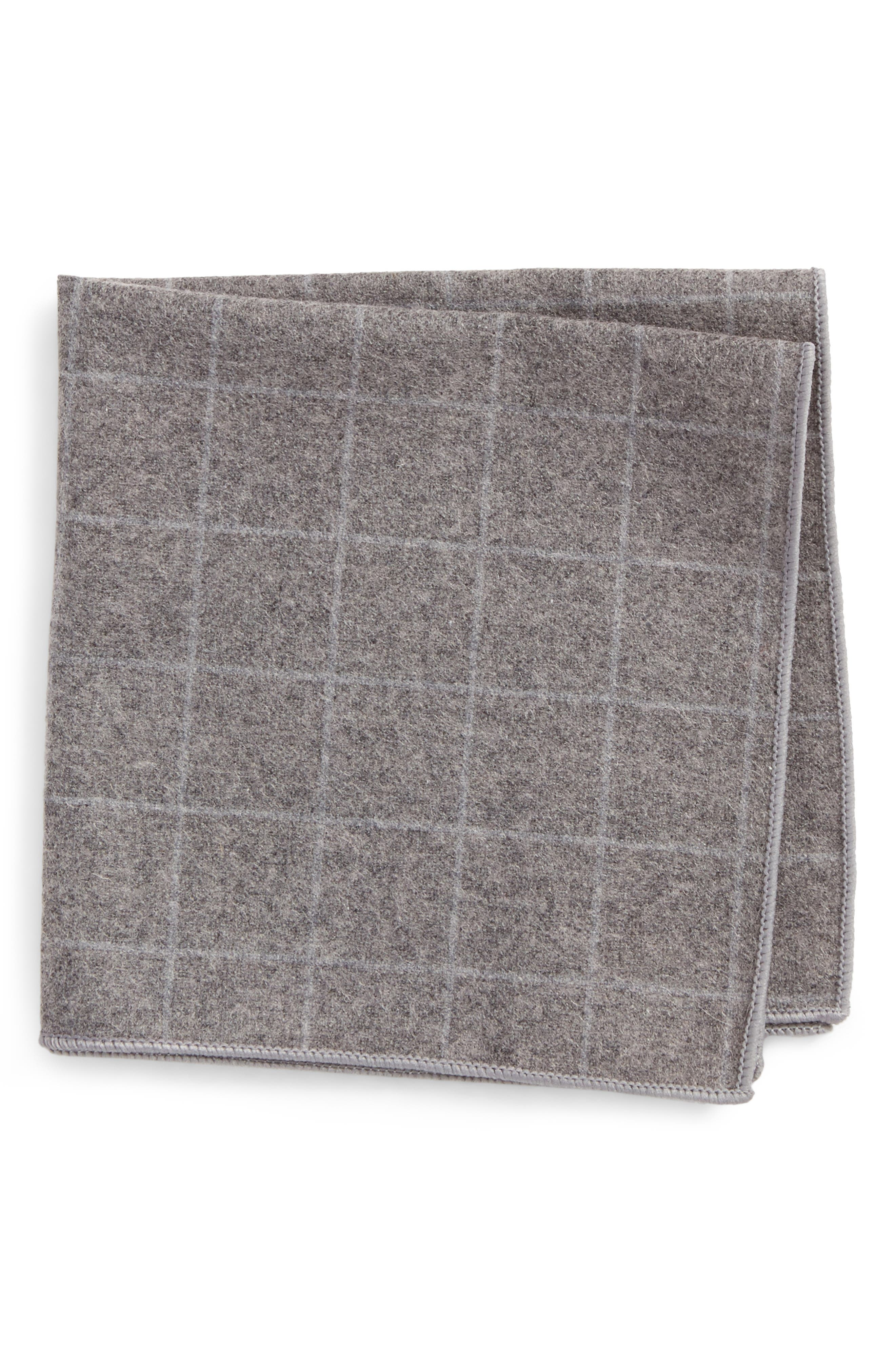 THE TIE BAR Flannel Pocket Square, Main, color, 020