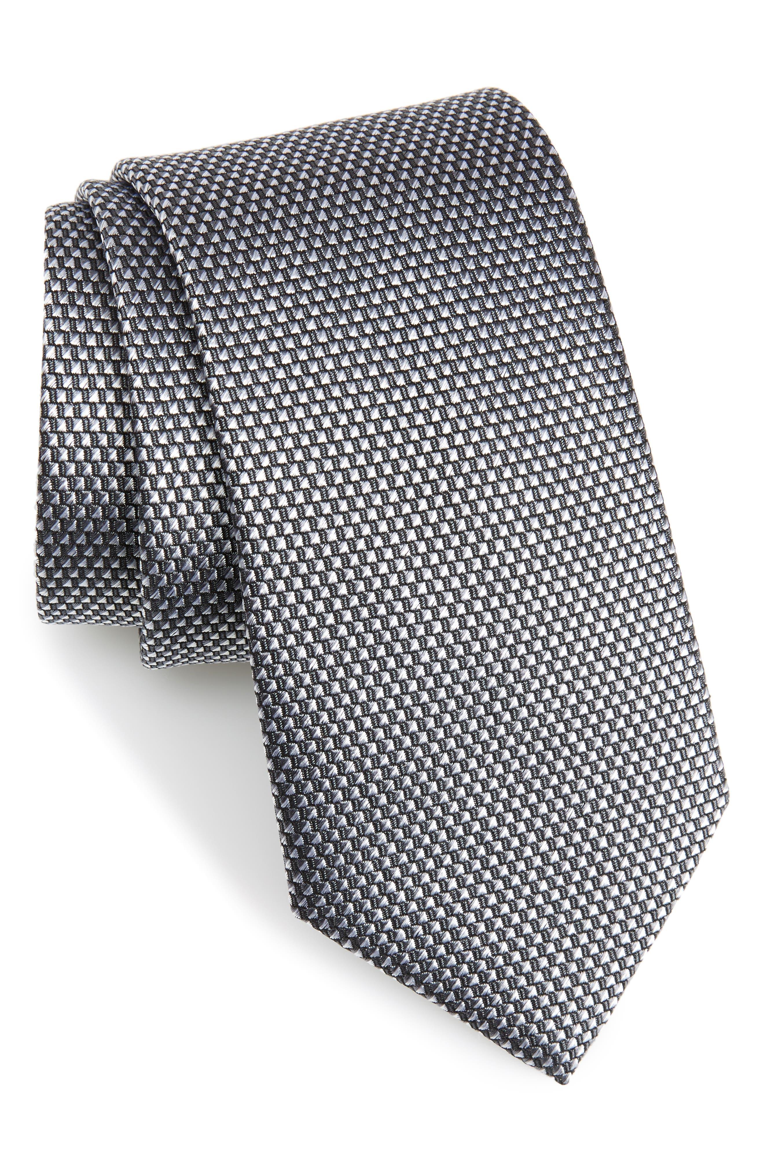Solid Silk Tie,                         Main,                         color, 040
