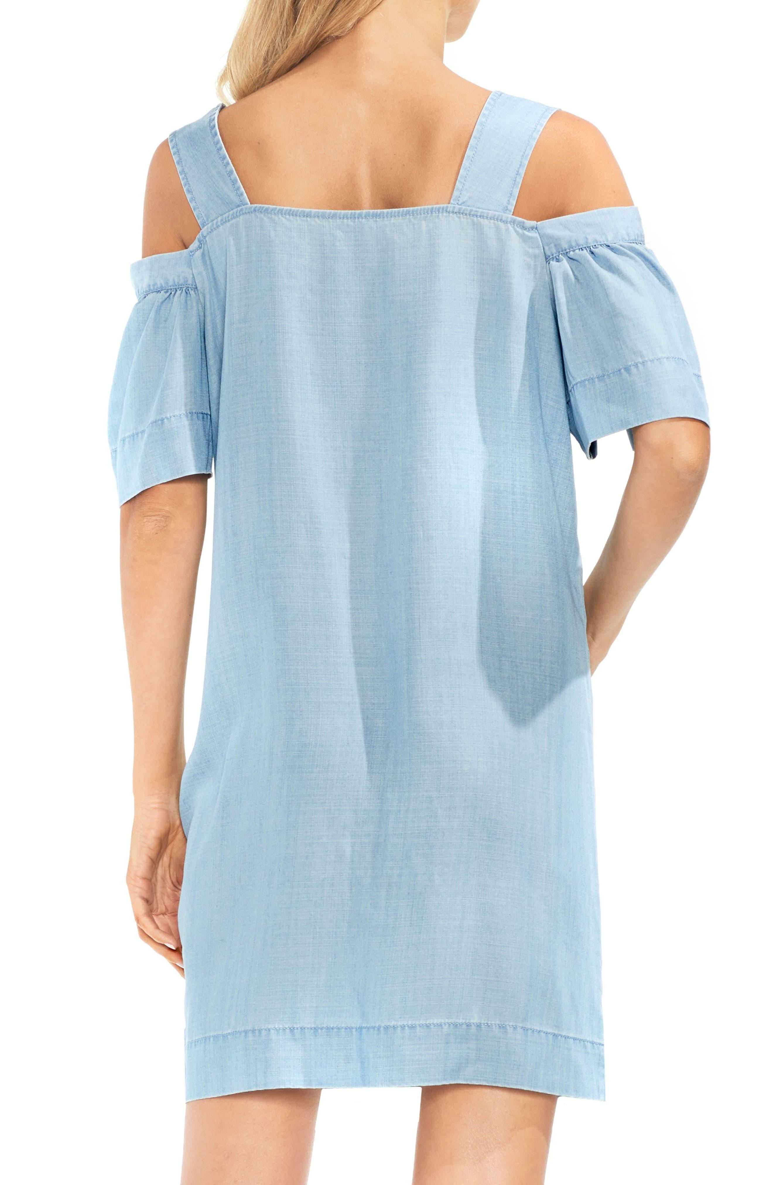 Ruffle Cold Shoulder Dress,                             Alternate thumbnail 2, color,                             410