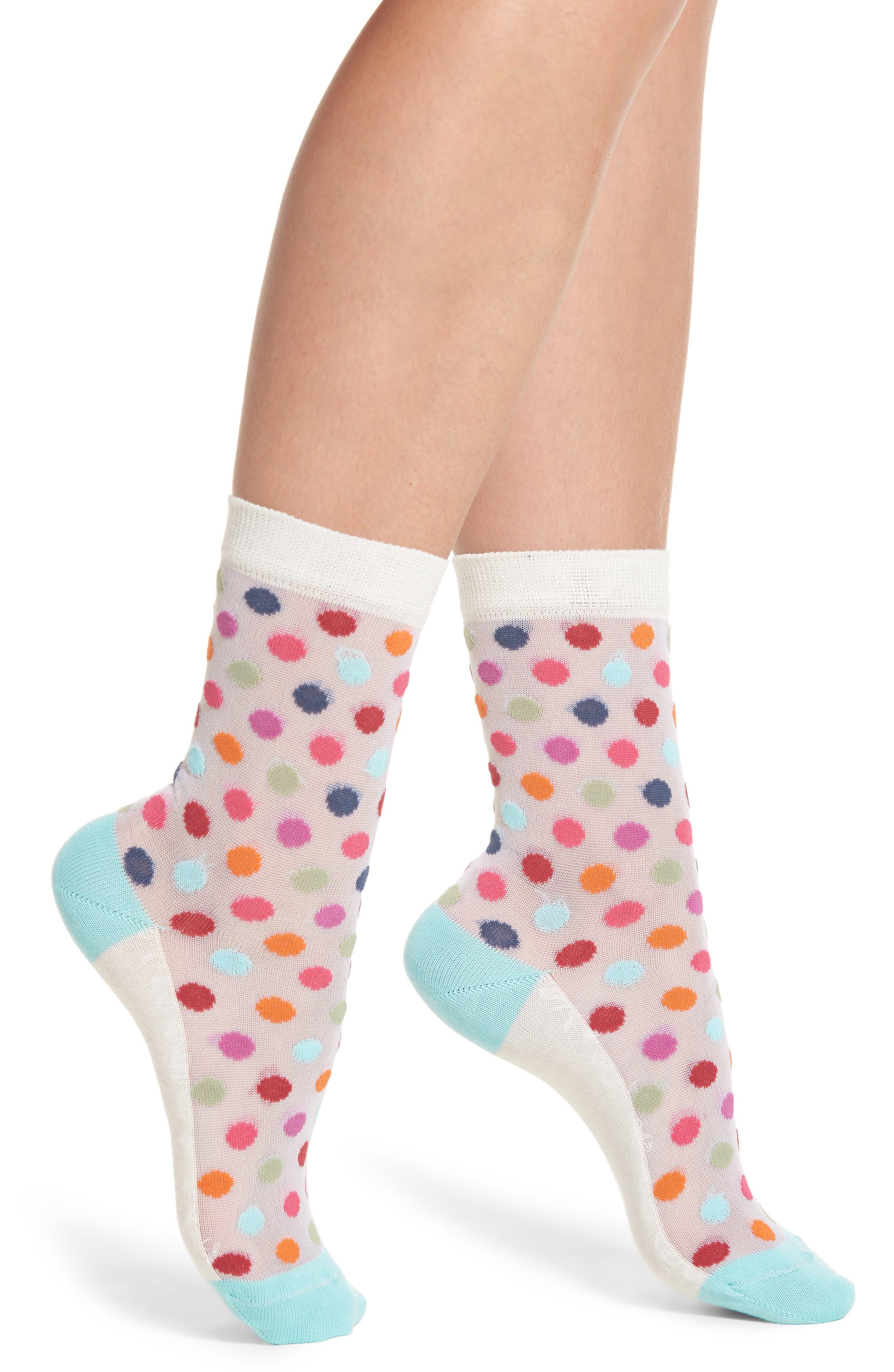 Franny Rainbow Ankle Socks,                         Main,                         color, 100