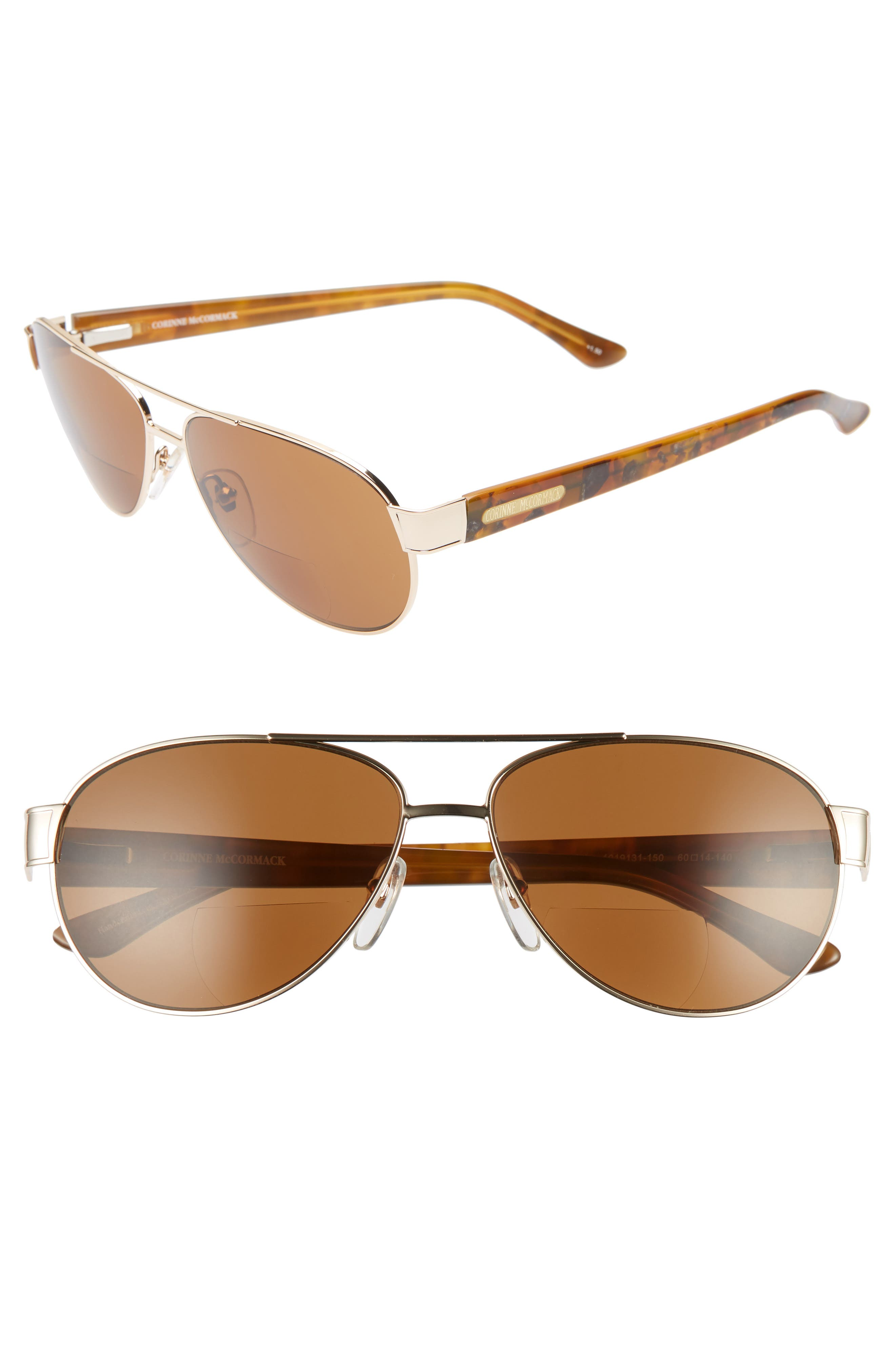CORINNE MCCORMACK Alicia 60Mm Optical Sunglasses - Brown/ Gold