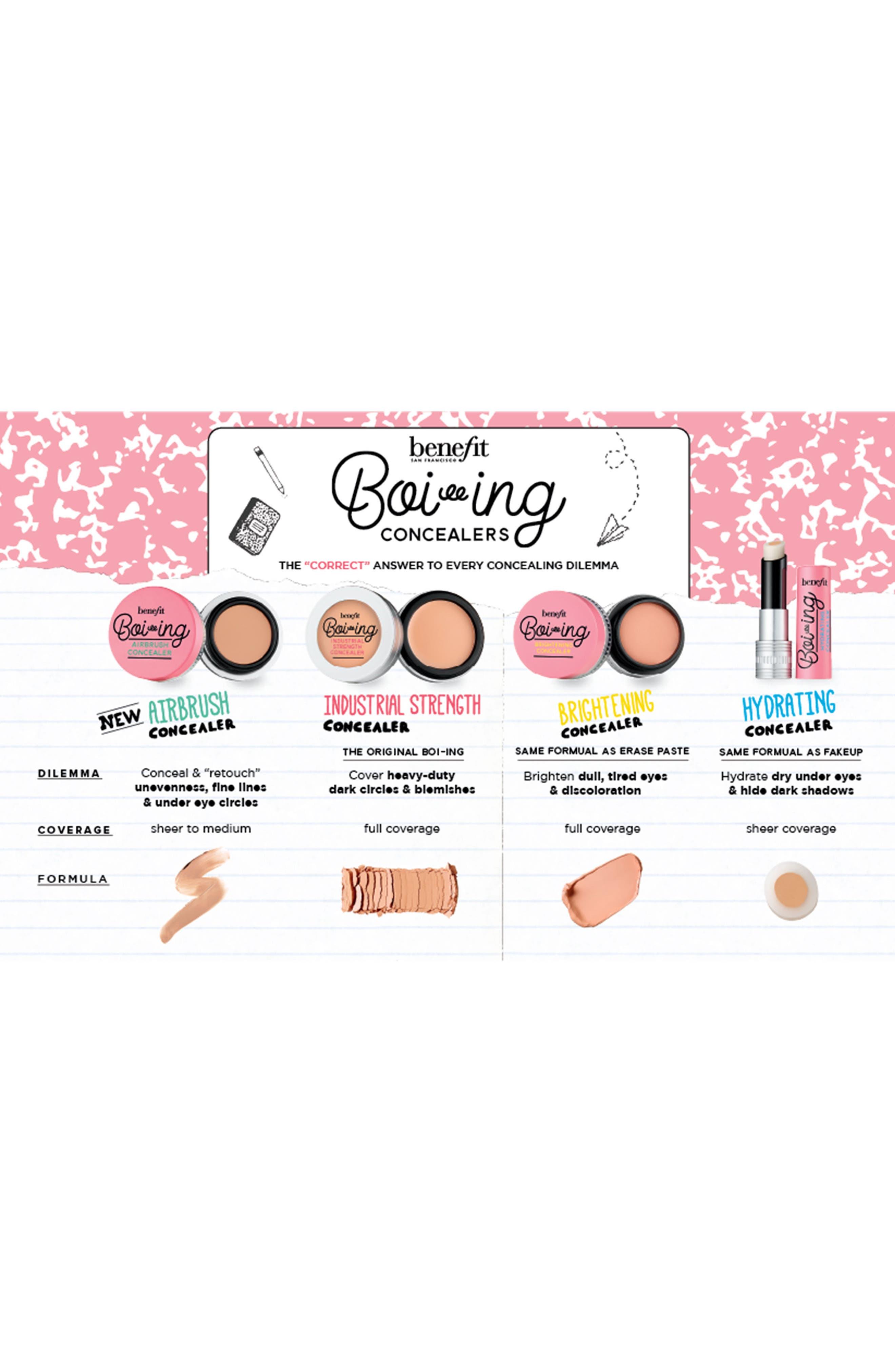 BENEFIT COSMETICS,                             Benefit Erase Case Boi-ing Concealer Kit,                             Alternate thumbnail 5, color,                             LIGHT