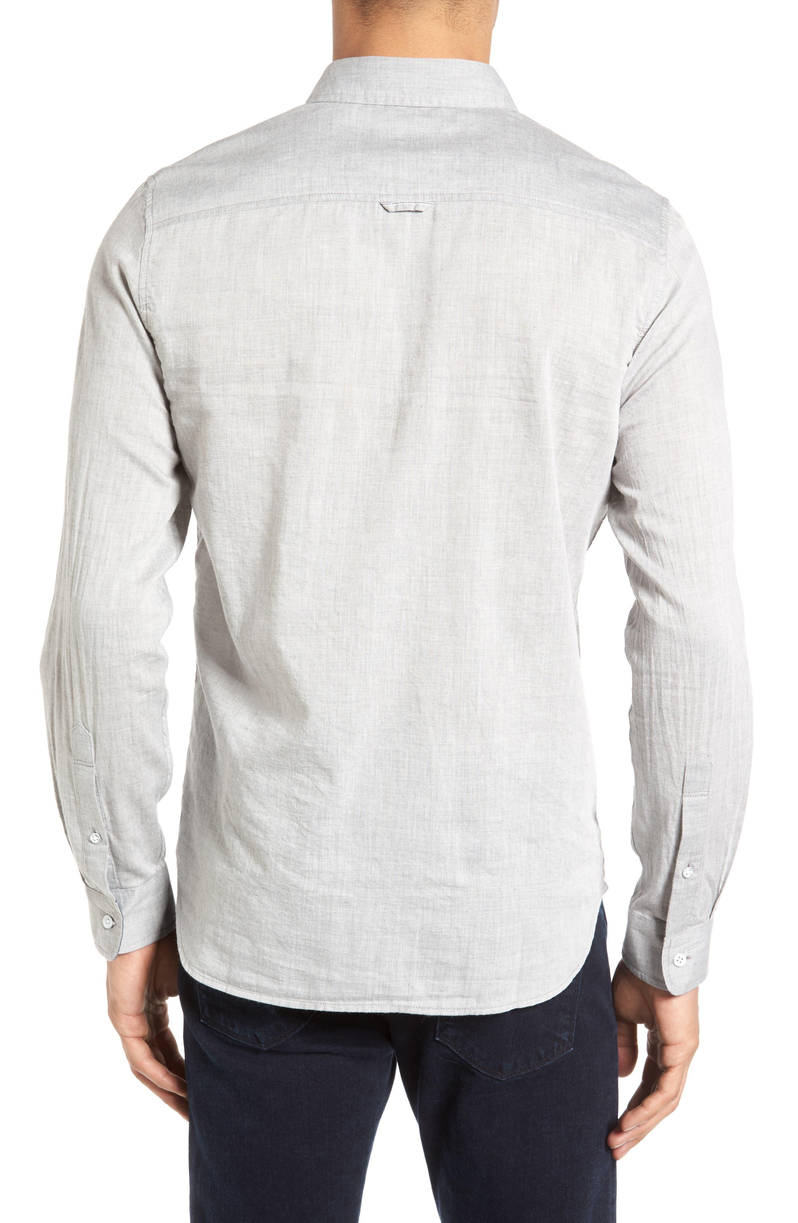 Grady Trim Fit Sport Shirt,                             Alternate thumbnail 2, color,                             022