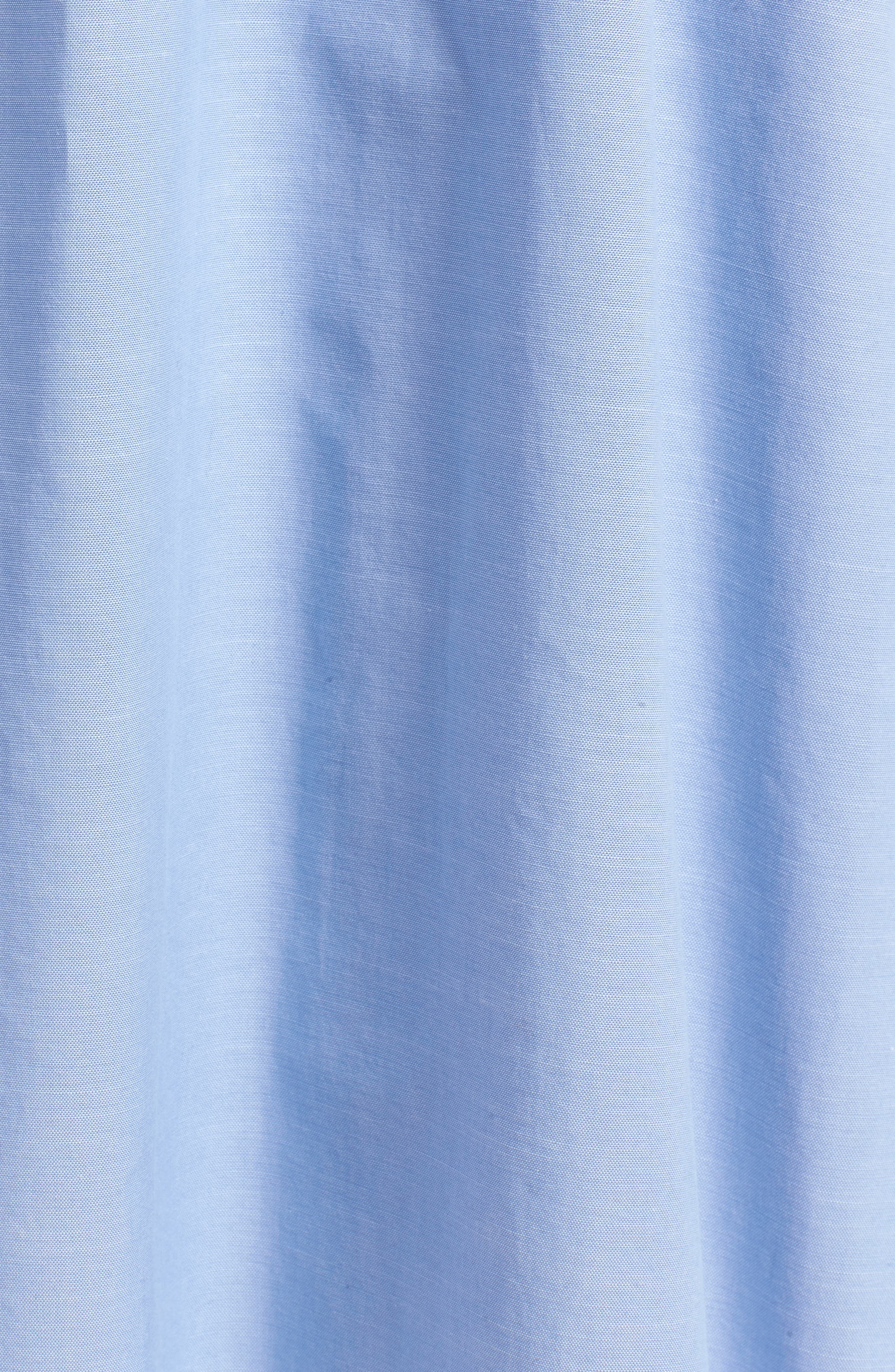 Chambray Wrap Dress,                             Alternate thumbnail 6, color,                             420