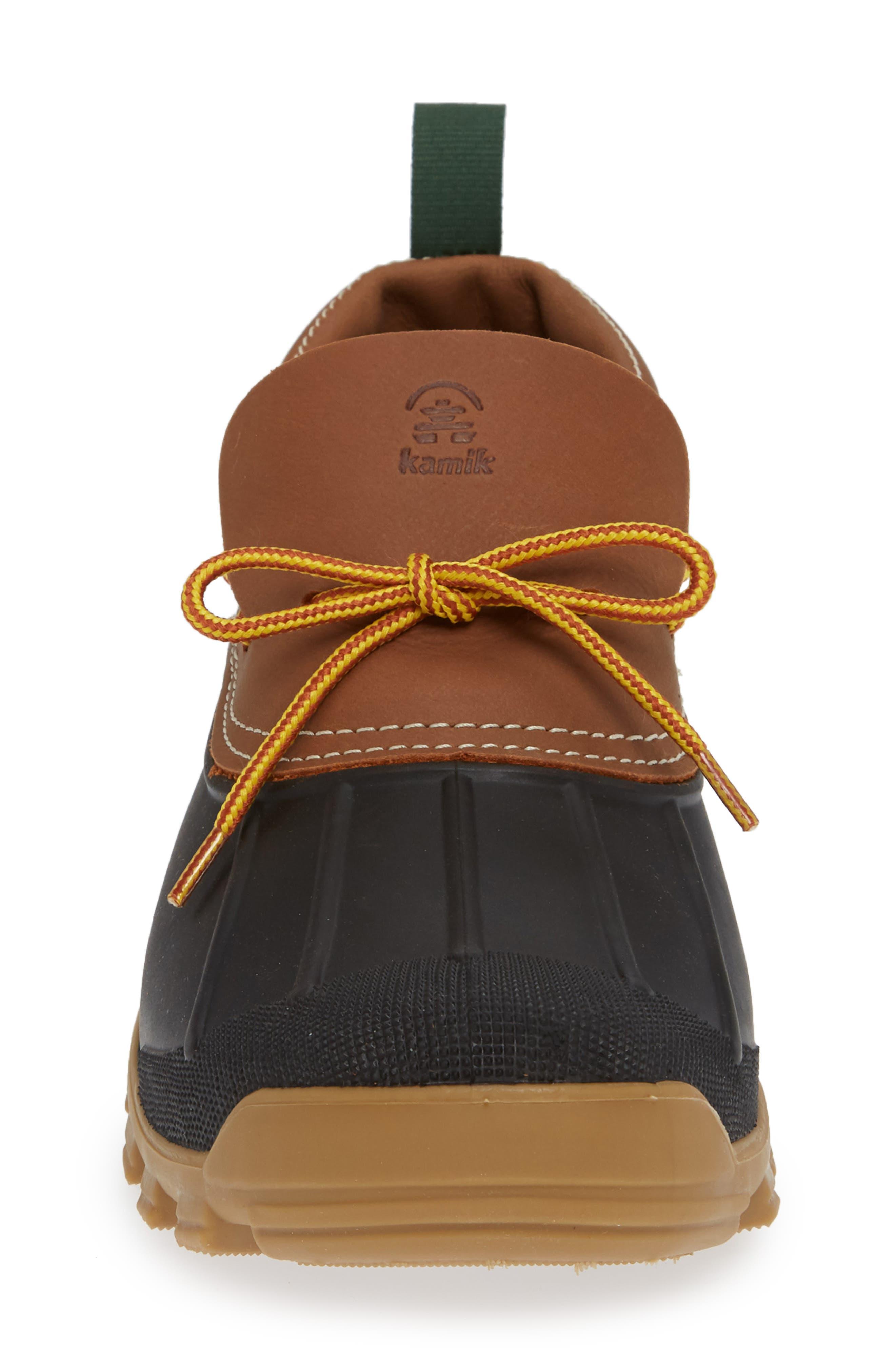 Yukon Short Waterproof Boot,                             Alternate thumbnail 4, color,                             TAN LEATHER