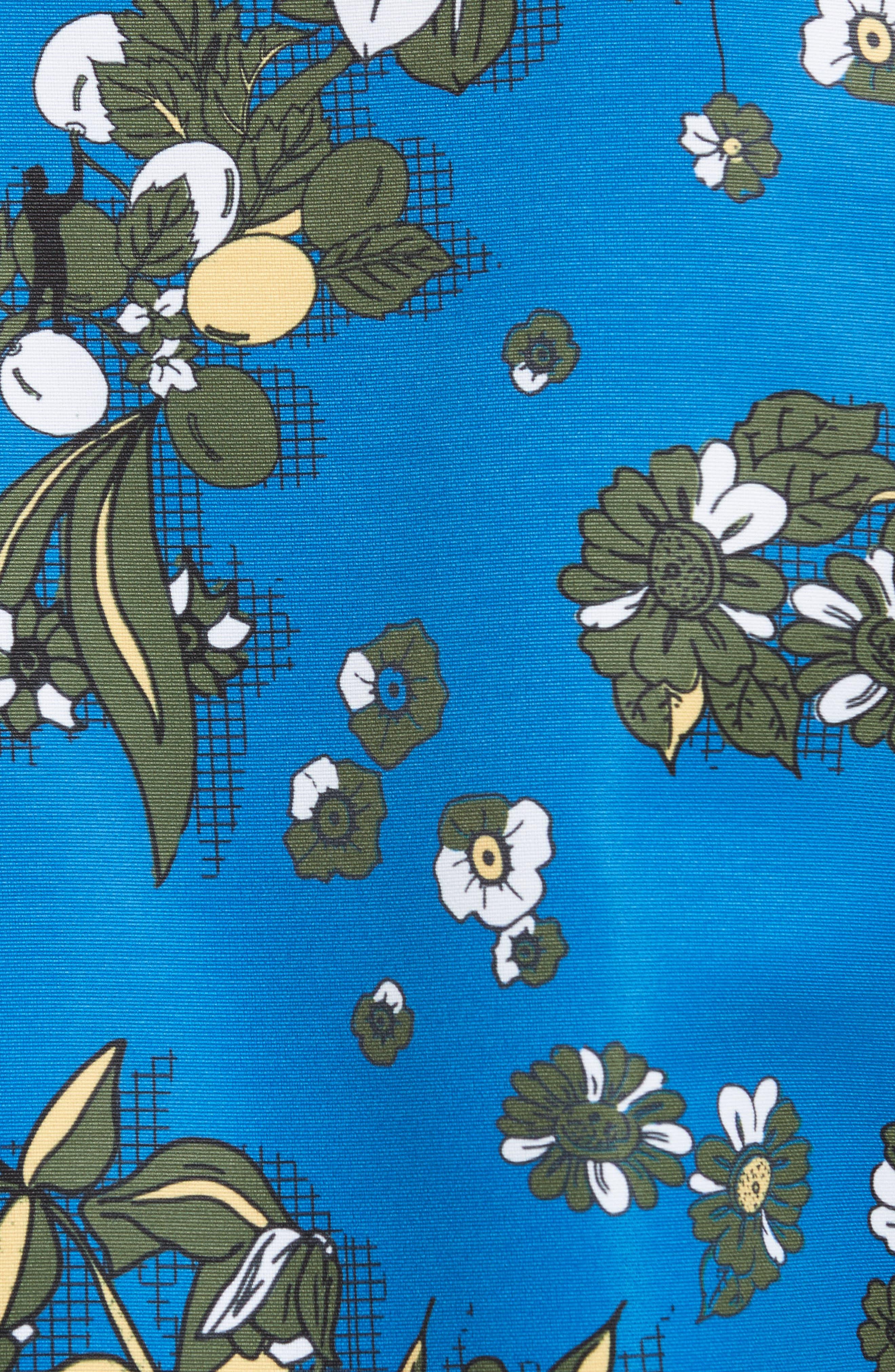 Cheylan Floral Bomber Jacket,                             Alternate thumbnail 6, color,