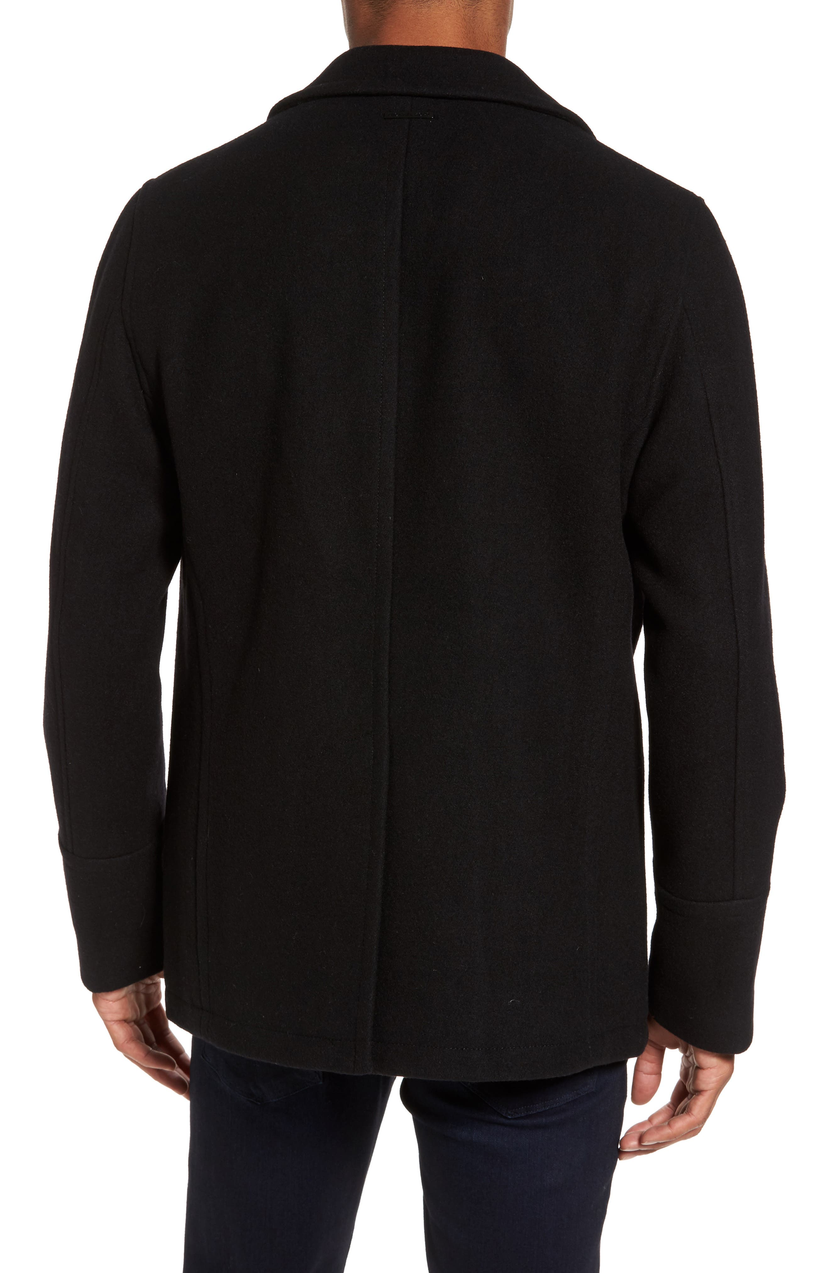 Wool Blend Double Breasted Peacoat,                             Alternate thumbnail 101, color,