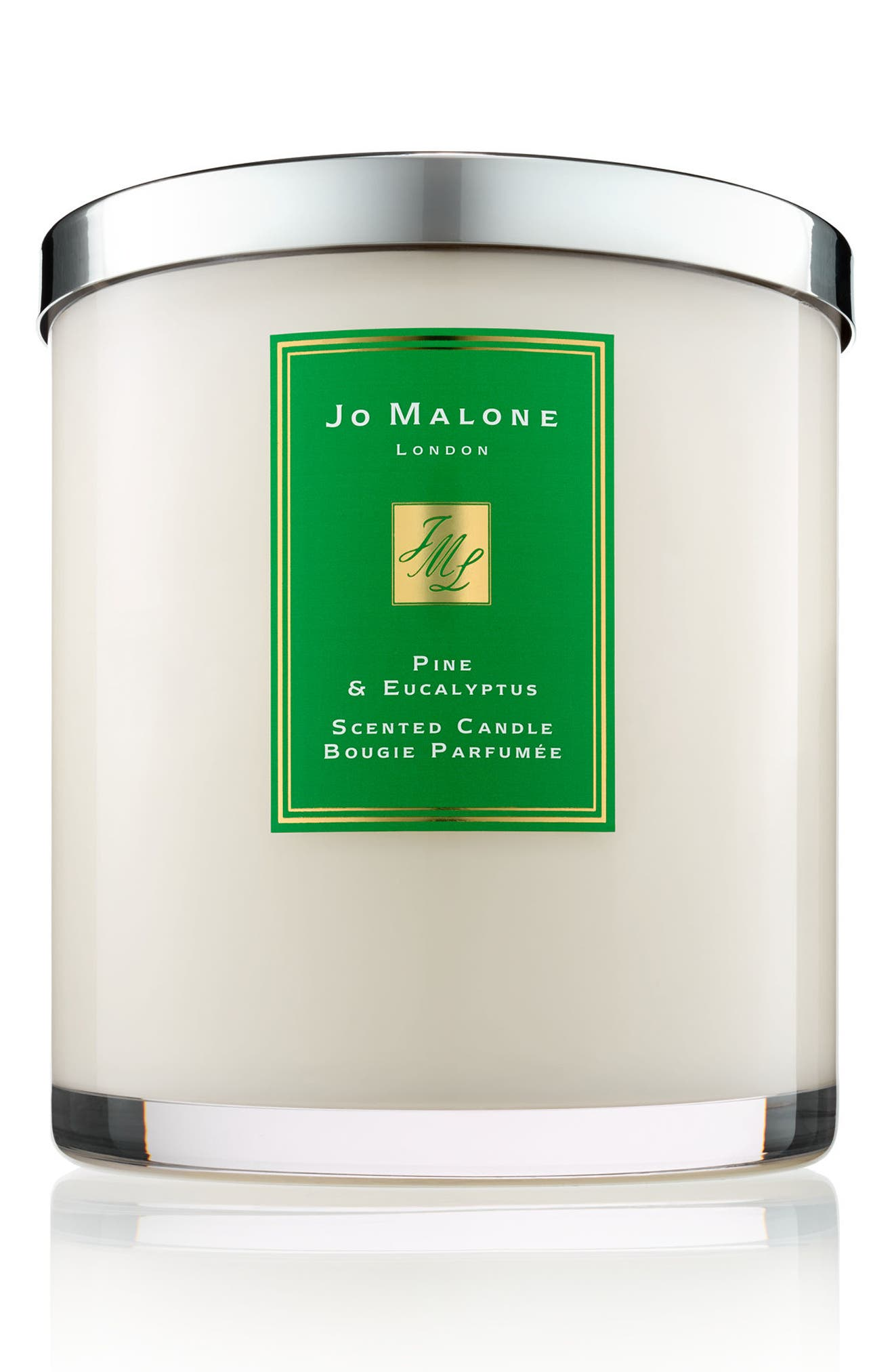 Pine & Eucalyptus Luxury Scented Candle,                             Main thumbnail 1, color,                             000
