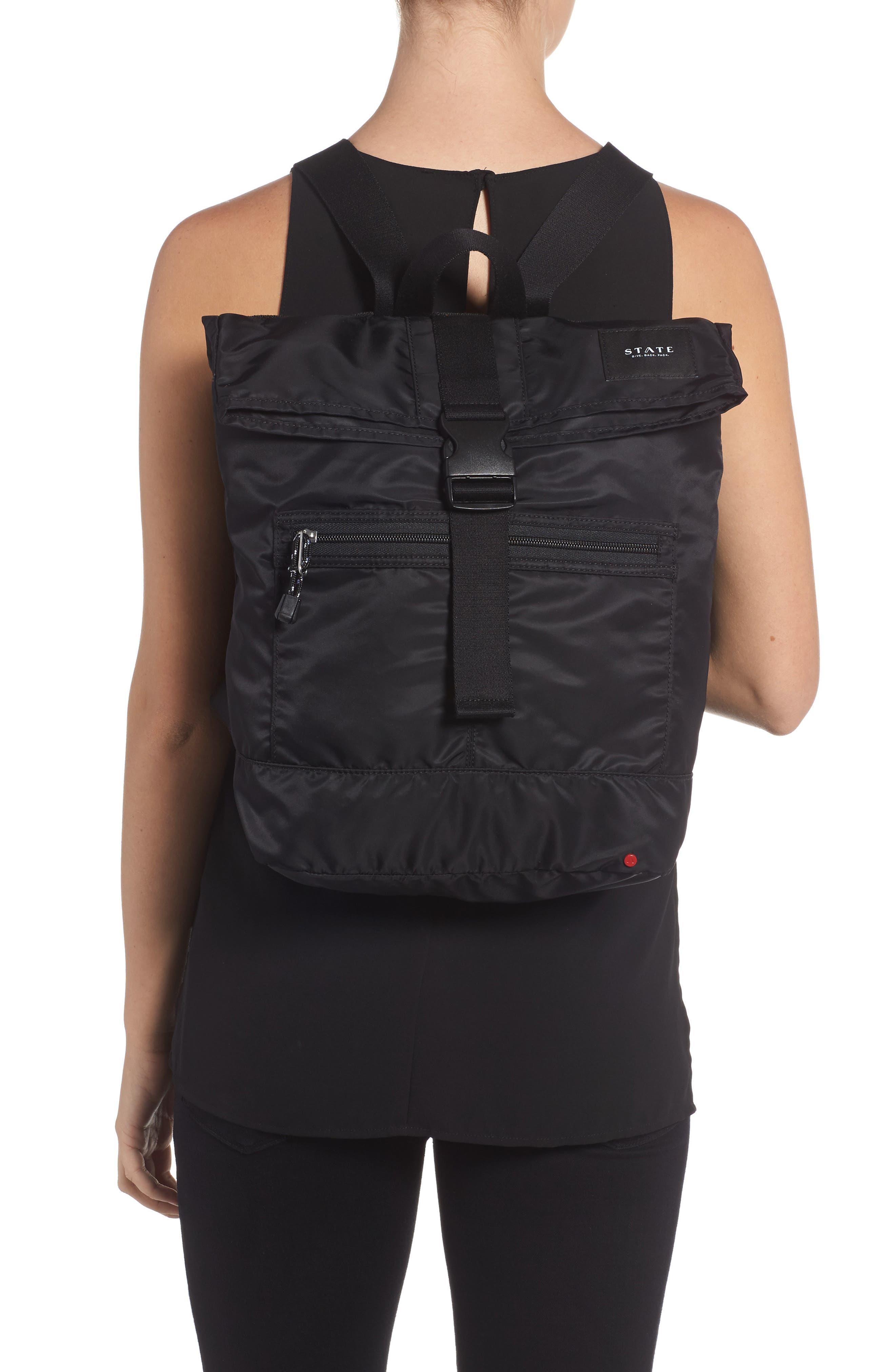 Bond Heights Packable Nylon Backpack,                             Alternate thumbnail 2, color,                             001