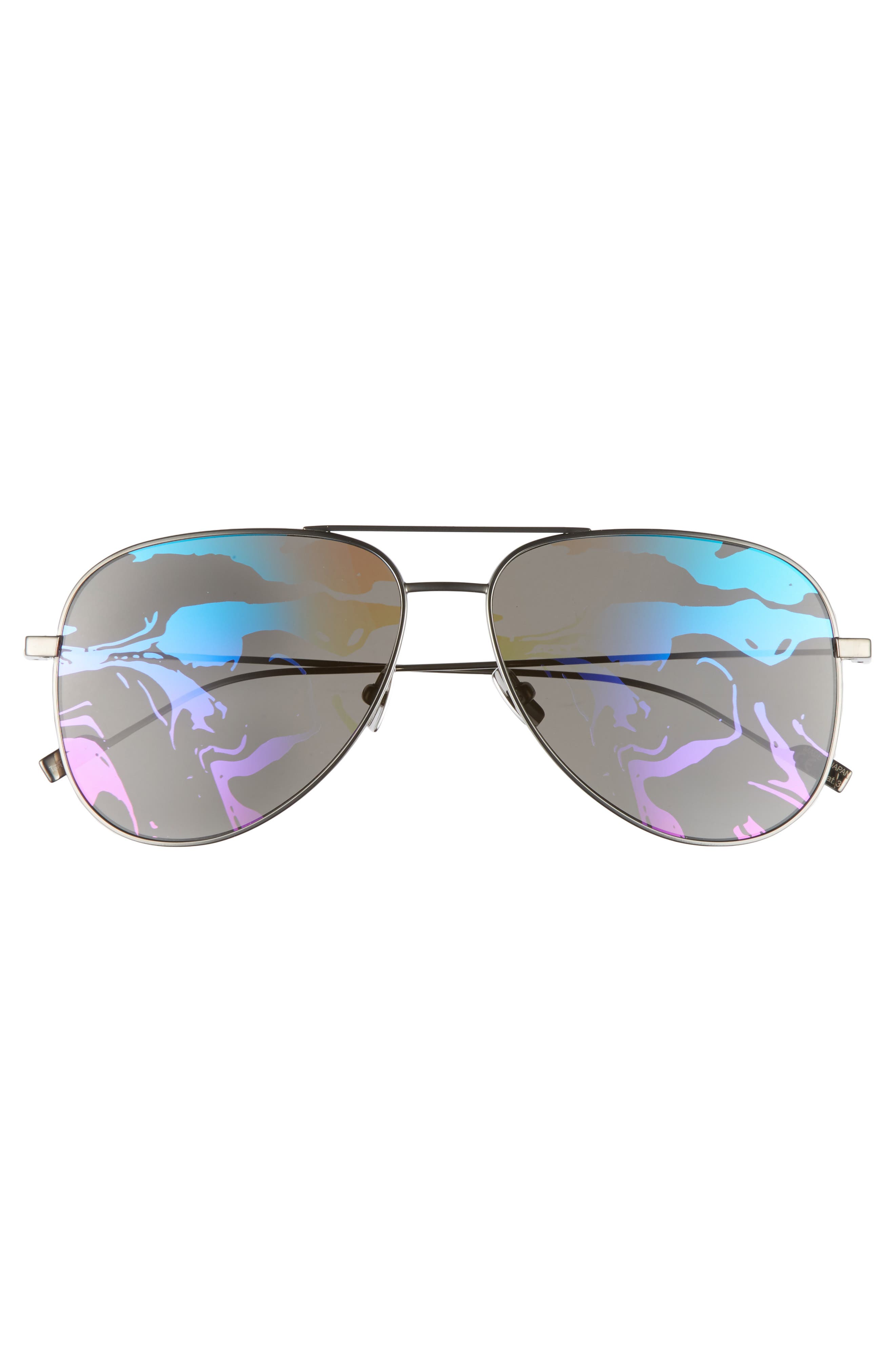 SL193 59mm Aviator Sunglasses,                             Alternate thumbnail 6, color,