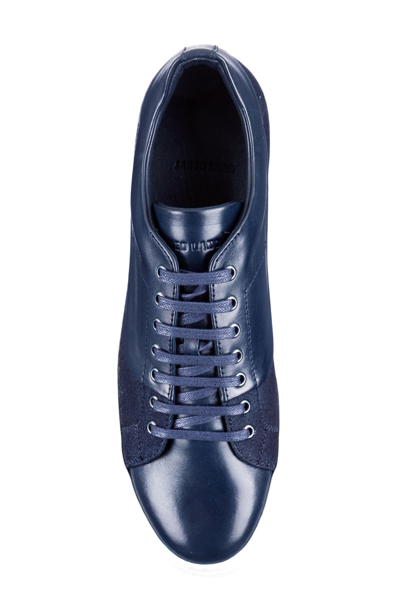 Luke Low Top Sneaker,                             Alternate thumbnail 5, color,                             NAVY LEATHER