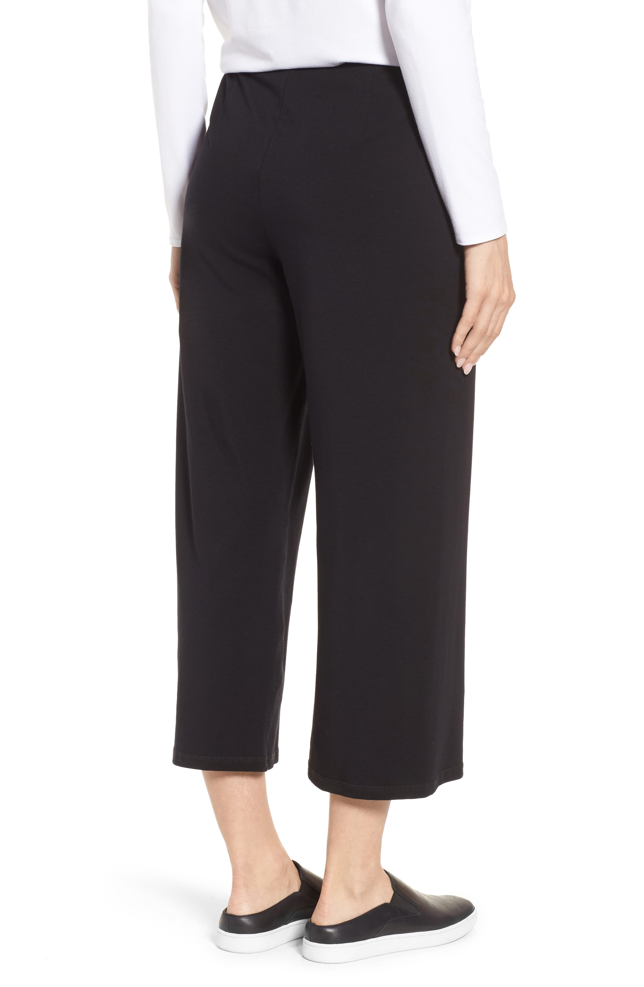 Stretch Organic Cotton Crop Pants,                             Alternate thumbnail 2, color,                             001