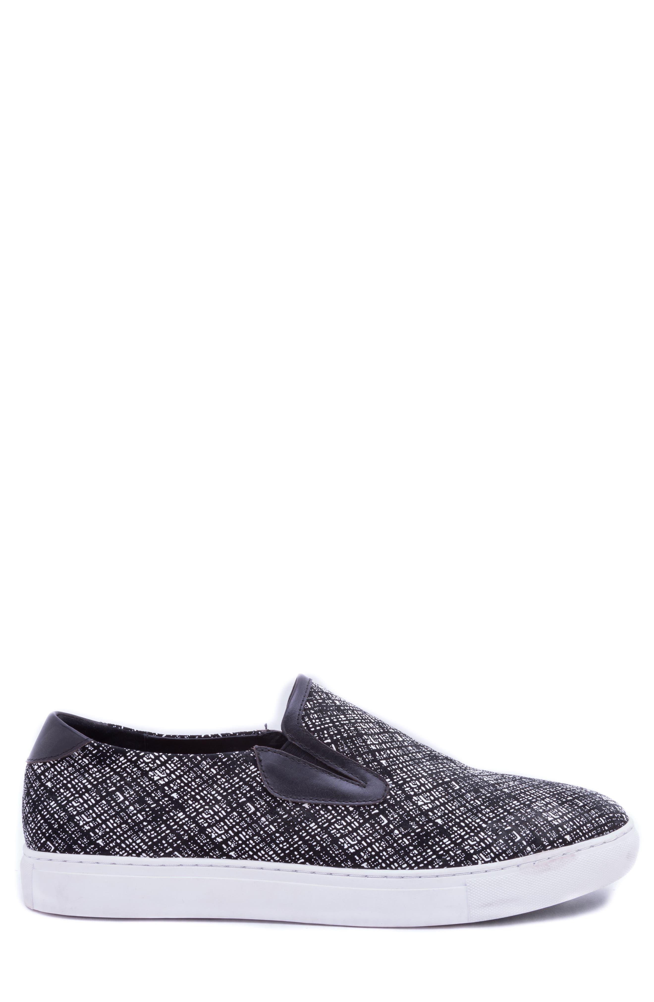 Kitson Slip-On Sneaker,                             Alternate thumbnail 3, color,                             BLACK SUEDE