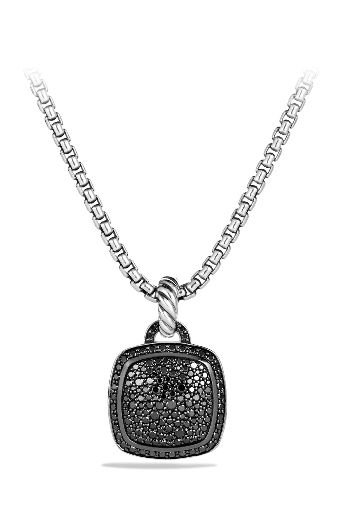 'Albion' Pendant with Diamonds,                             Alternate thumbnail 5, color,                             BLACK DIAMOND