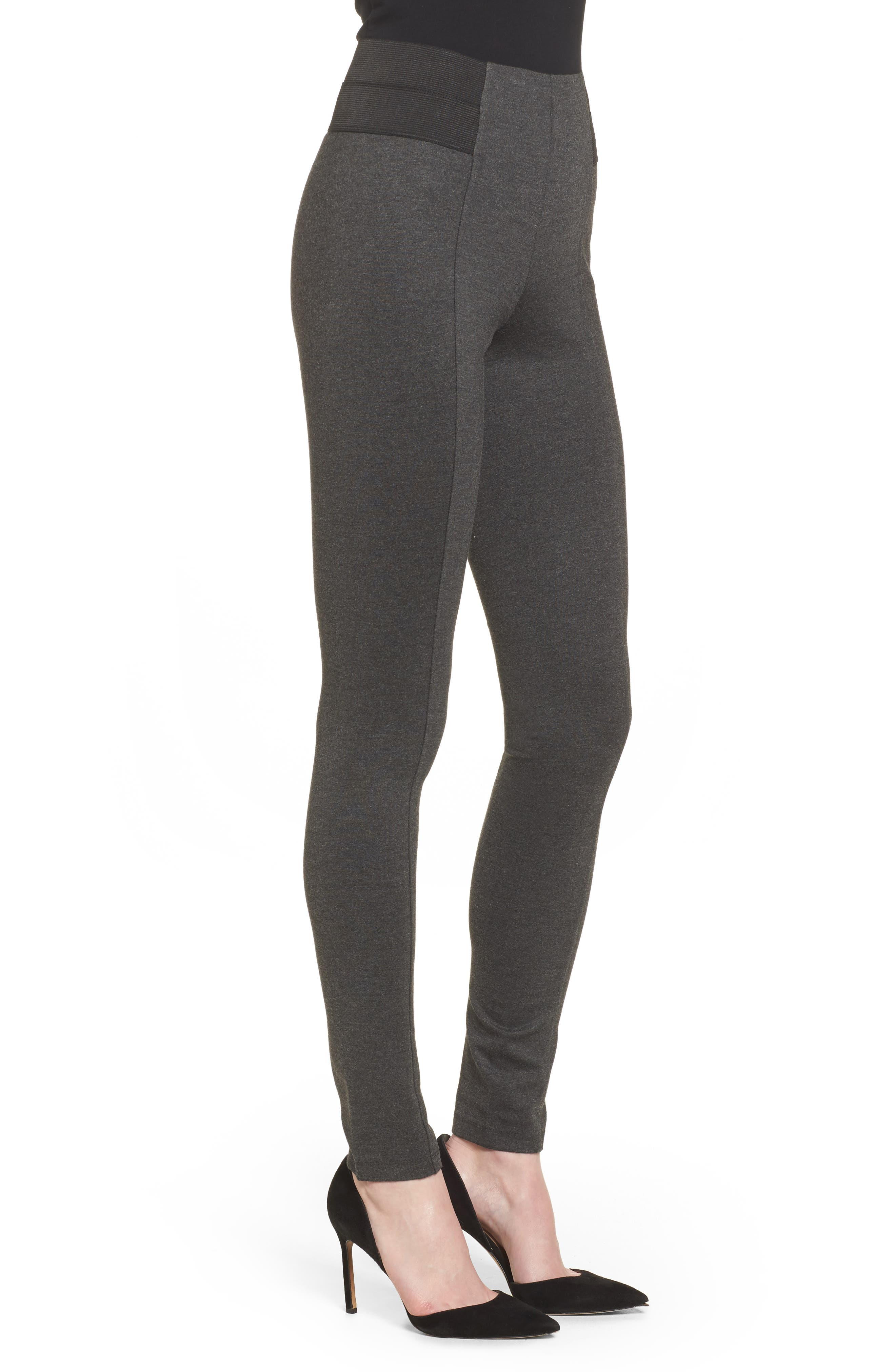 Ponte Leggings,                             Alternate thumbnail 3, color,                             090