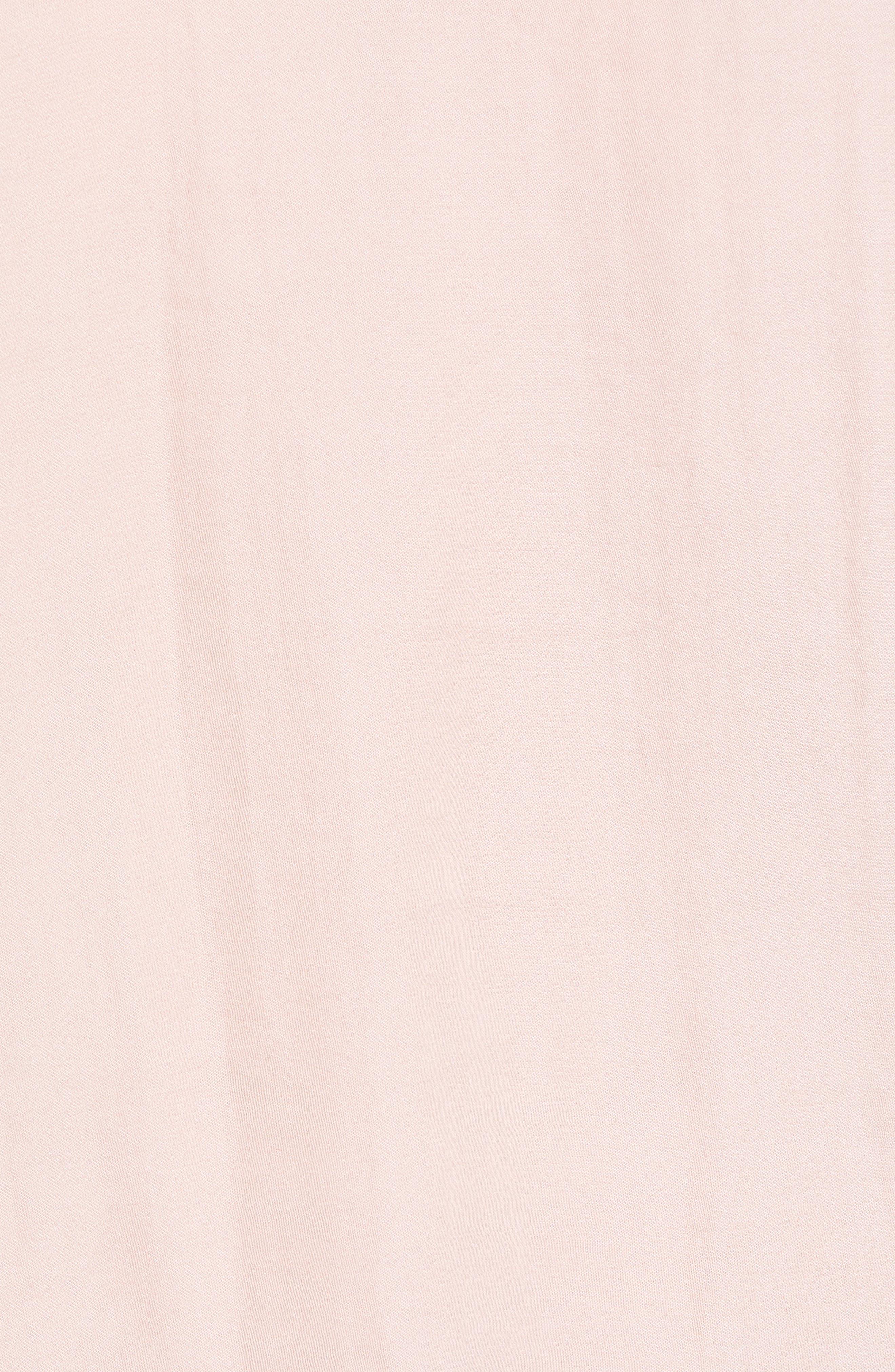 Satin & Lace Camisole,                             Alternate thumbnail 5, color,                             BLUSH/ BLACK