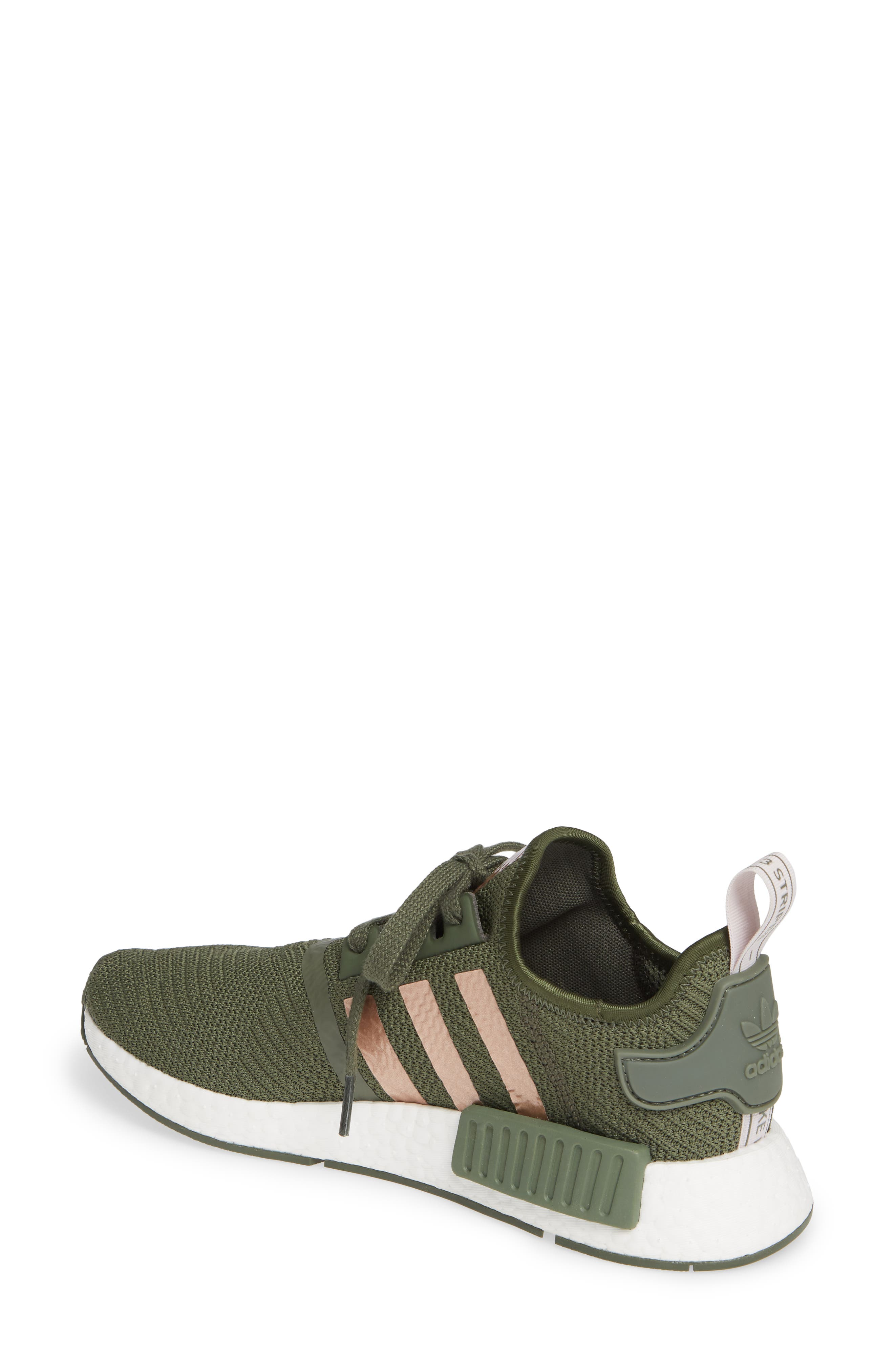 NMD R1 Athletic Shoe,                             Alternate thumbnail 2, color,                             BASE GREEN/ SUPER POP