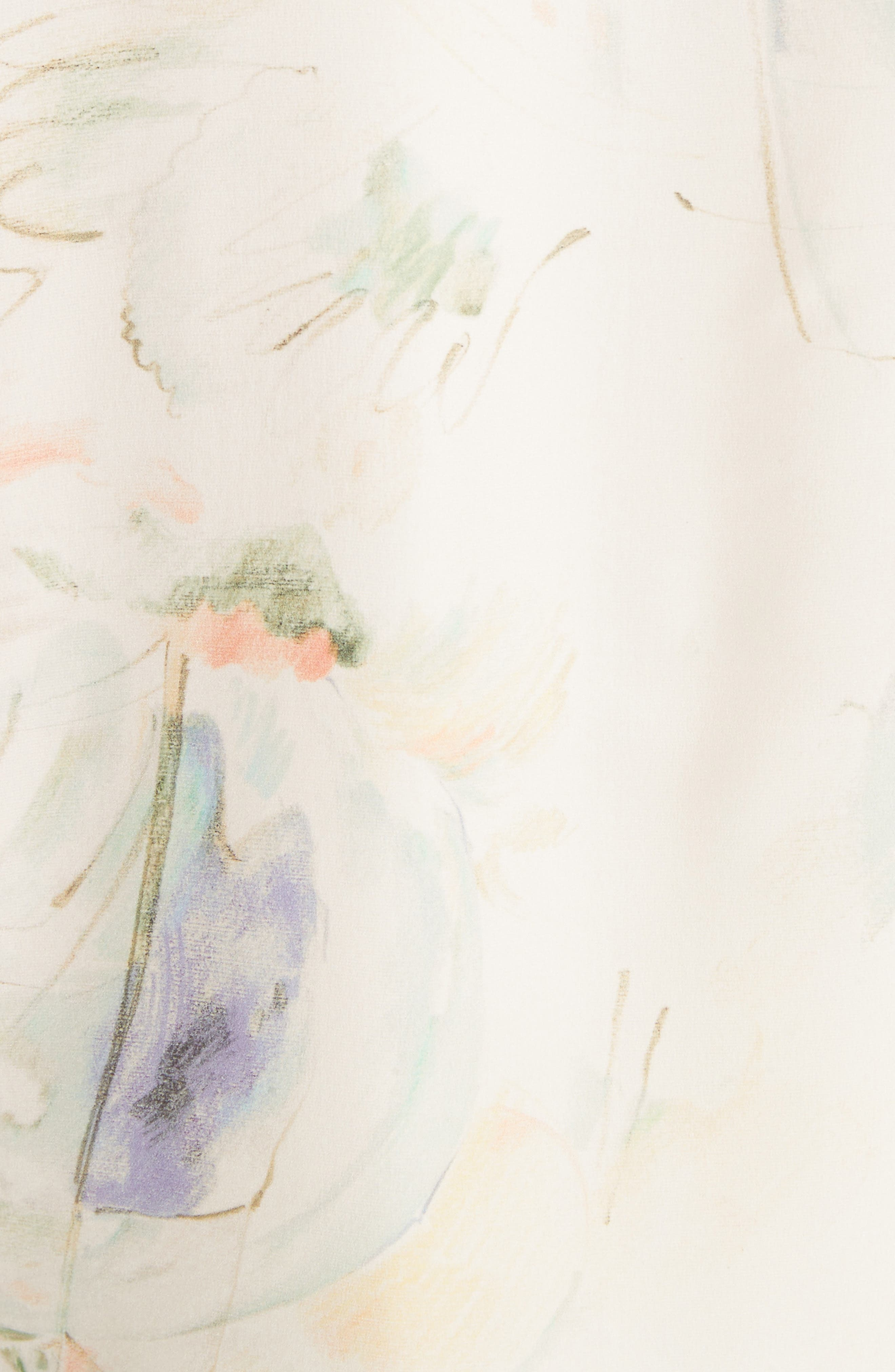 Blair Modern Muse Print Silk Blouse,                             Alternate thumbnail 5, color,                             905