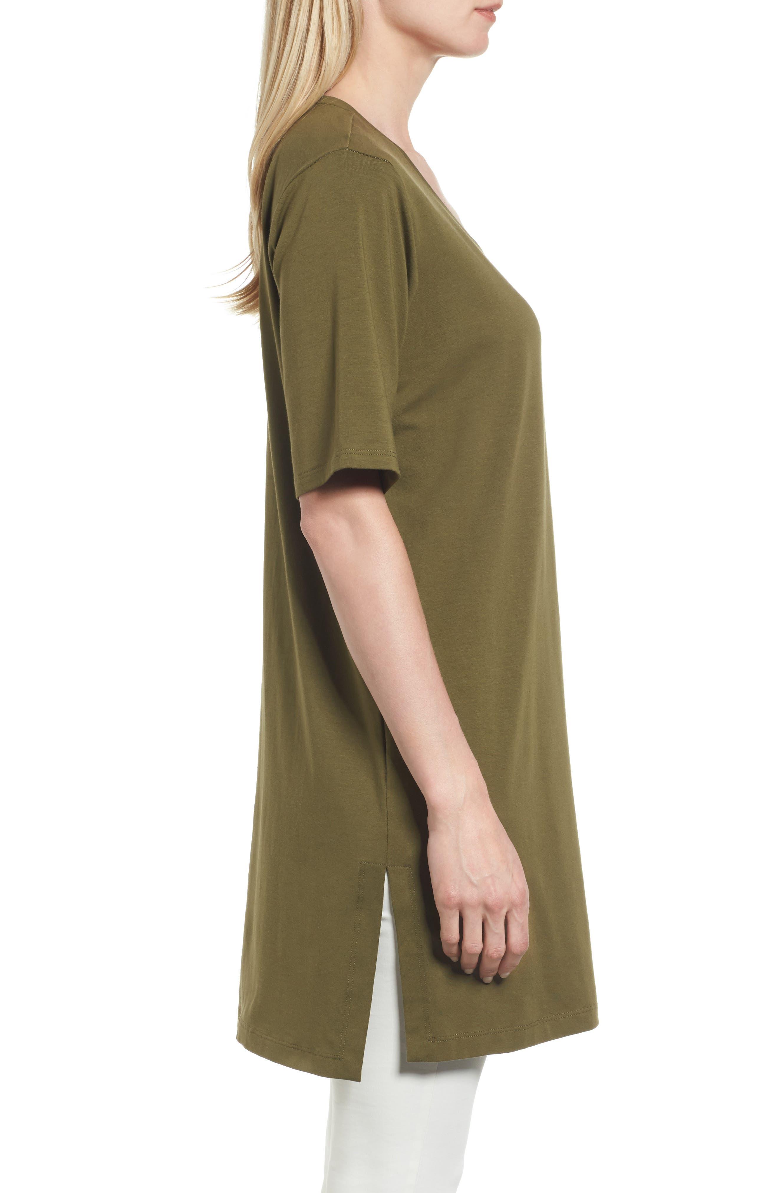 Stretch Organic Cotton Jersey Tunic,                             Alternate thumbnail 18, color,