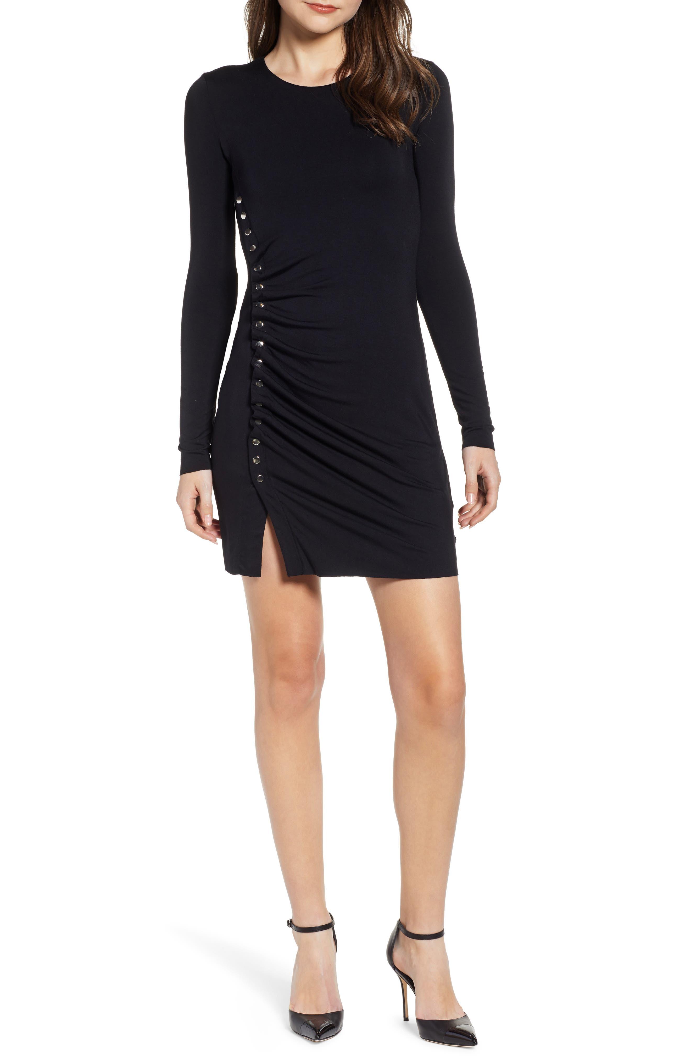 Bailey 44 Radiate Stud Detail Body-Con Dress, Black
