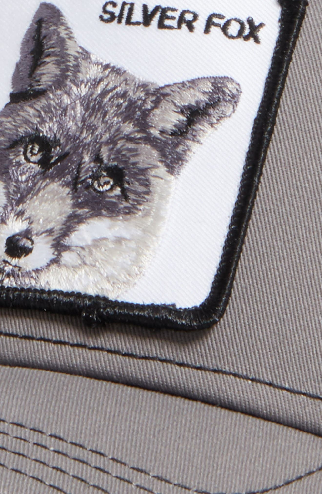 'Silver Fox' Trucker Hat,                             Alternate thumbnail 3, color,                             CHARCOAL