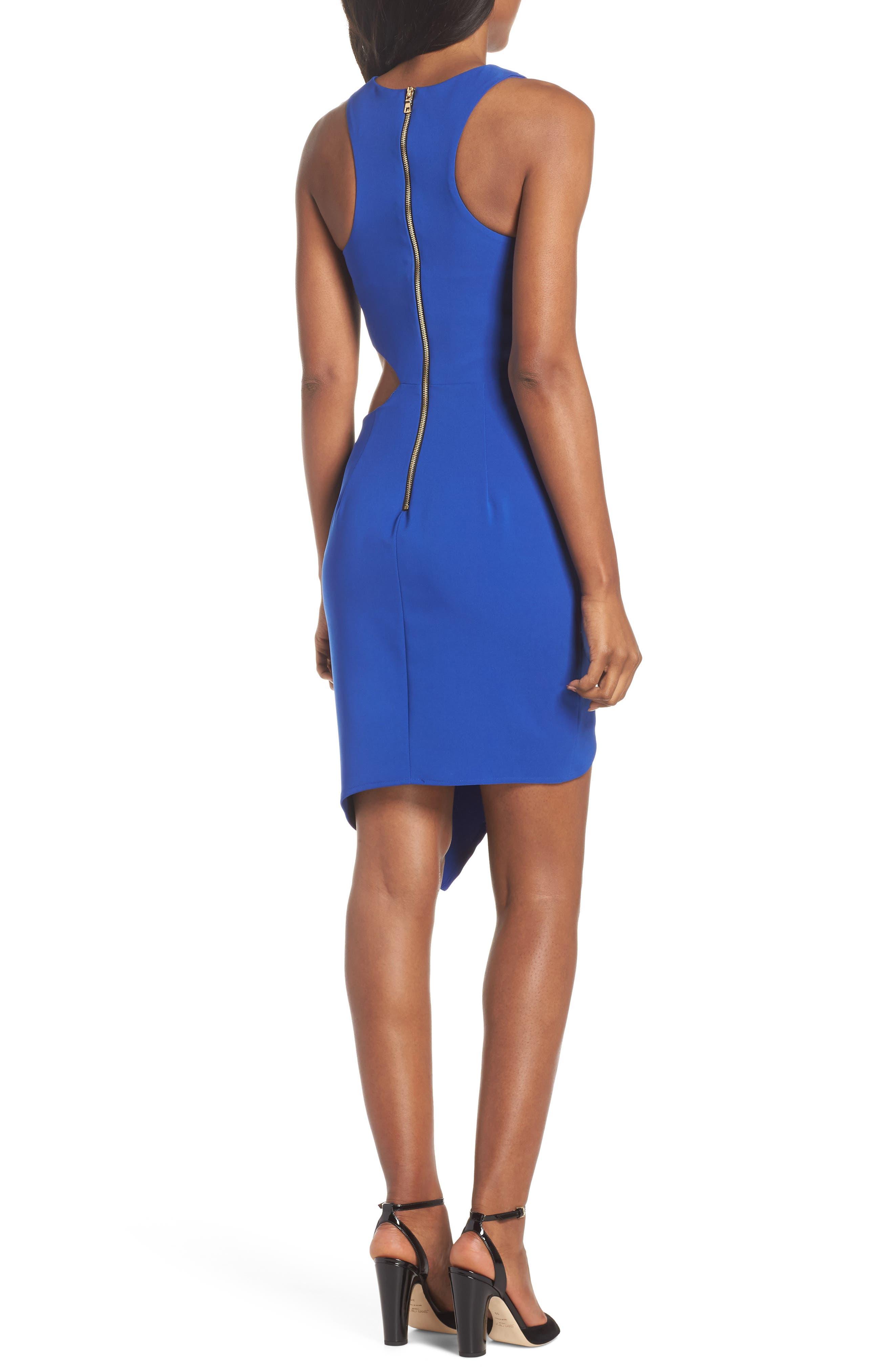 Taylor Racer Cutout Asymmetrical Dress,                             Alternate thumbnail 2, color,