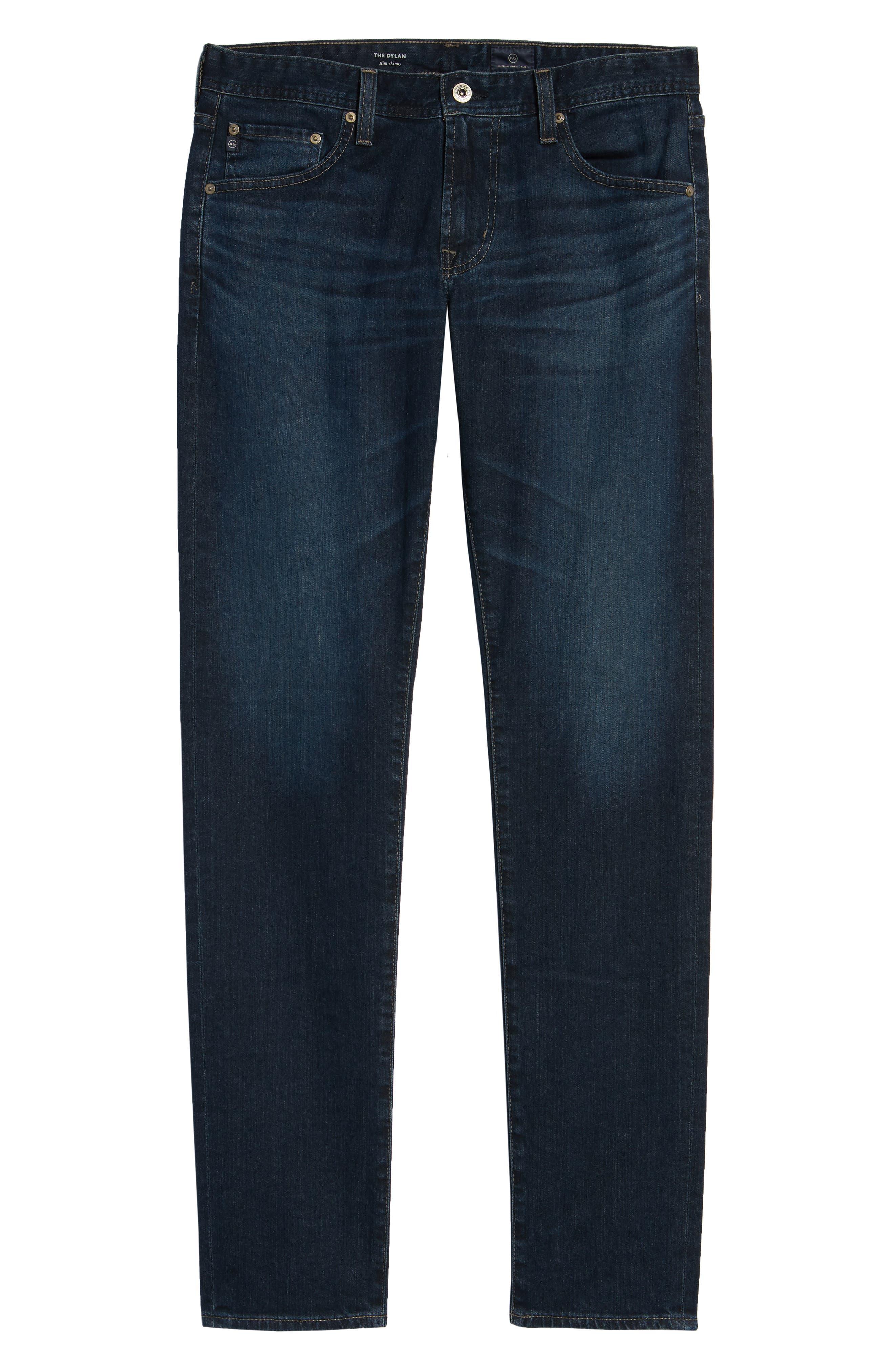 Dylan Skinny Fit Jeans,                             Alternate thumbnail 6, color,                             493