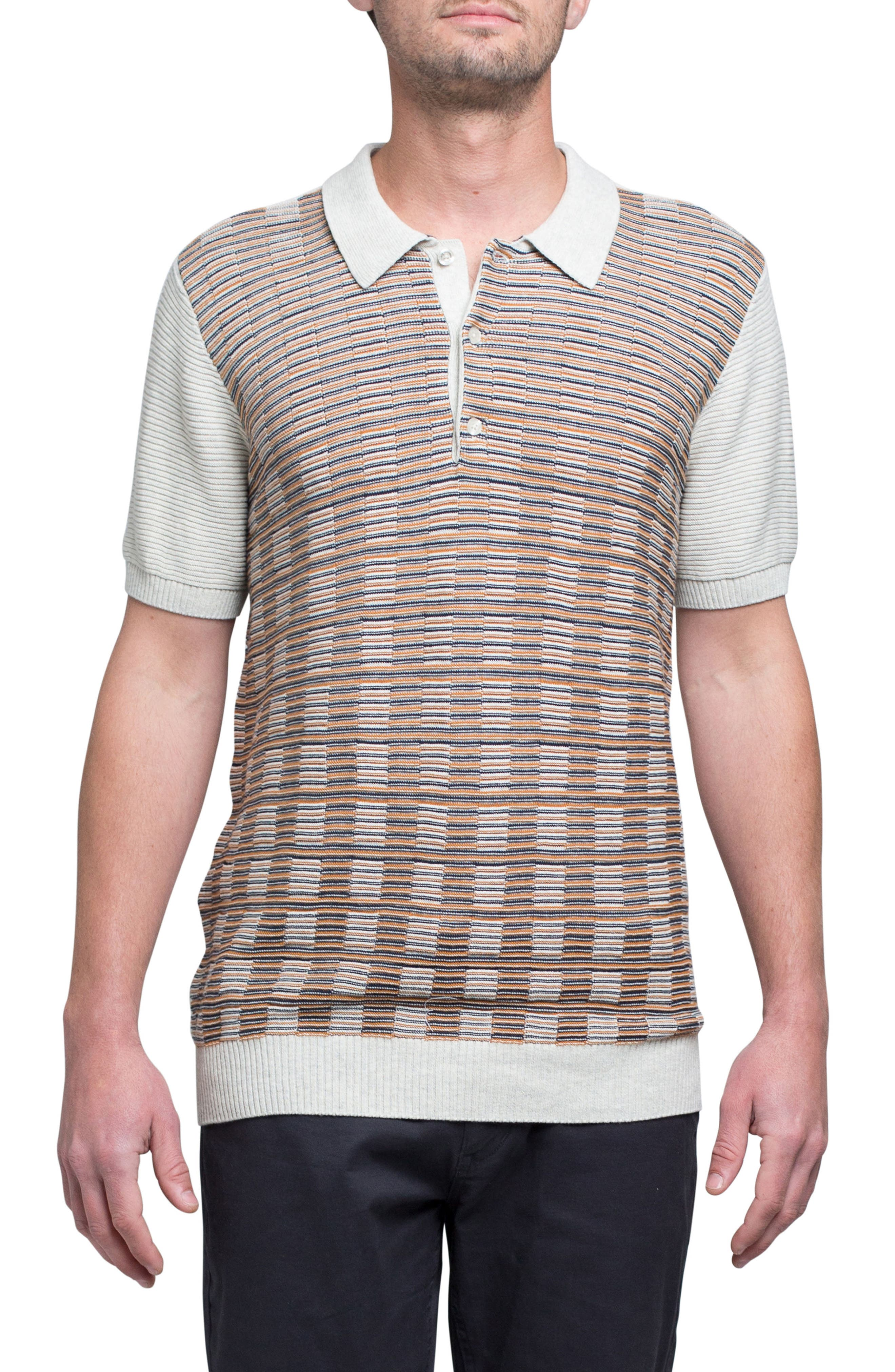 Mixed Stripe Polo,                         Main,                         color, 200