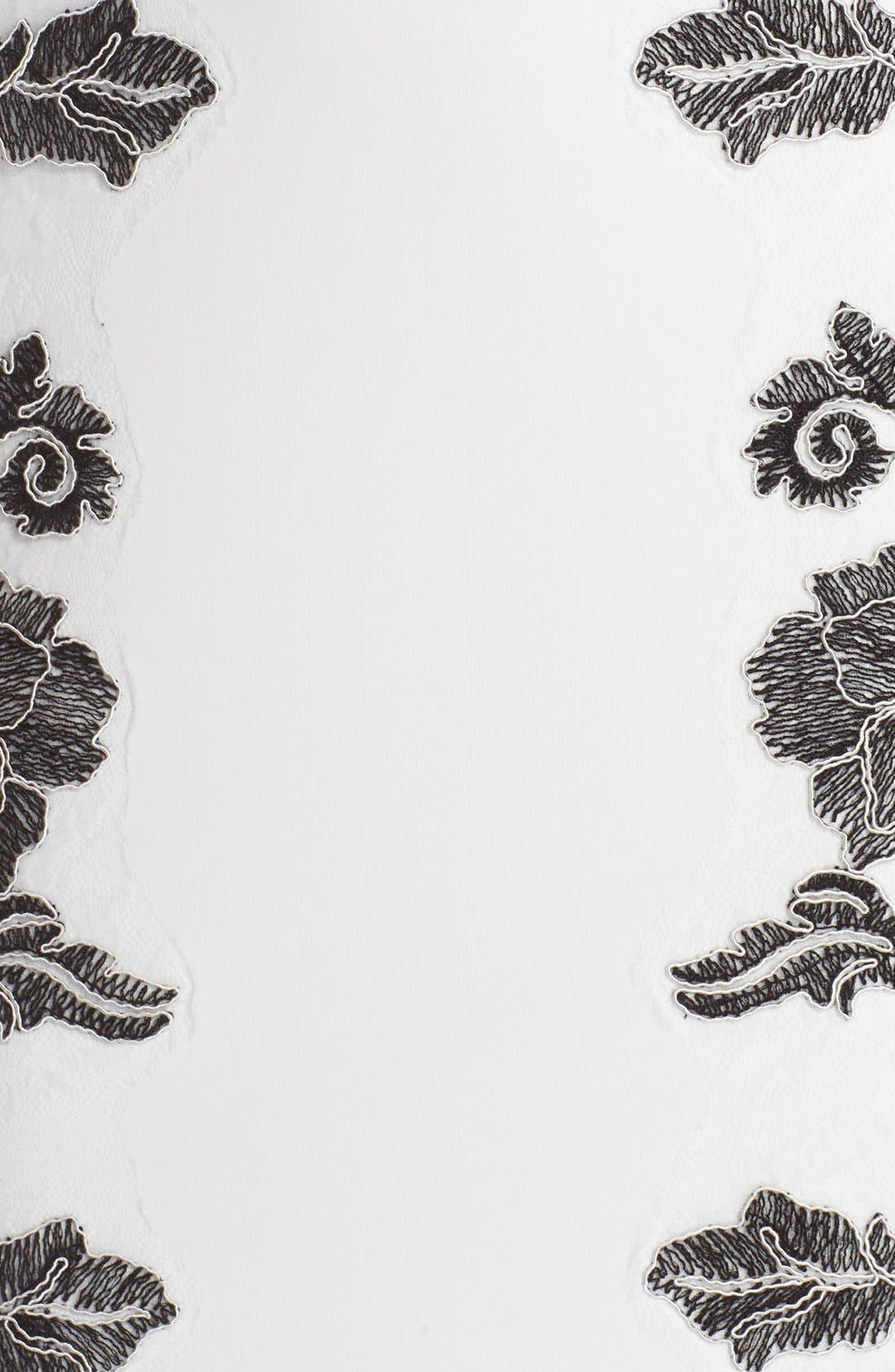 Embroidered Neoprene Sheath Dress,                             Alternate thumbnail 20, color,