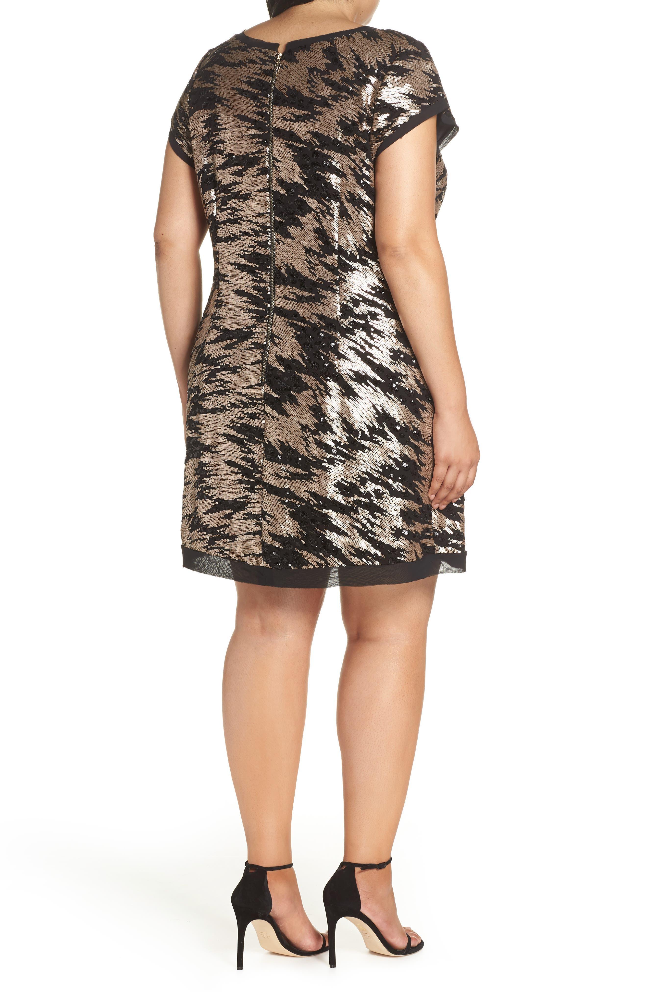 ELIZA J,                             Sequin Sheath Dress,                             Alternate thumbnail 2, color,                             002