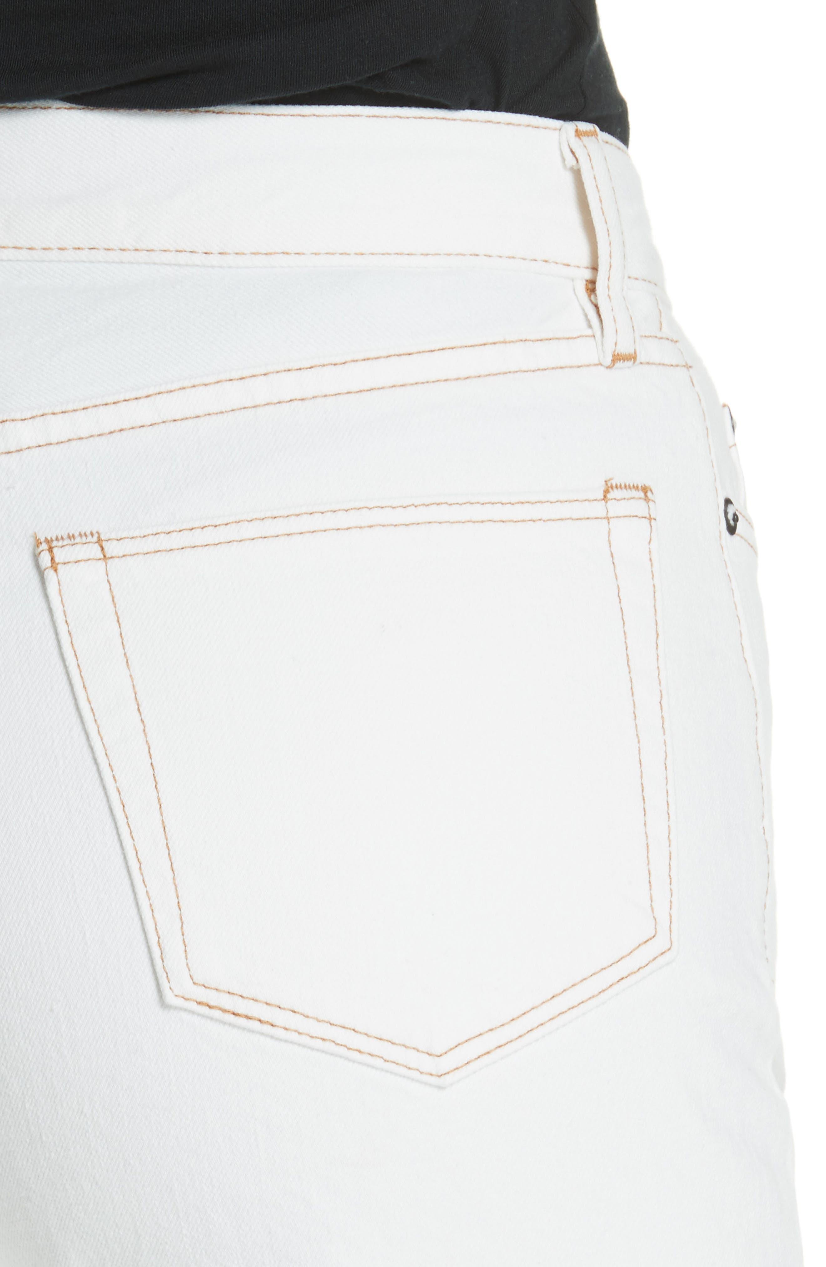 Enid High Waist Wide Leg Jeans,                             Alternate thumbnail 4, color,                             100