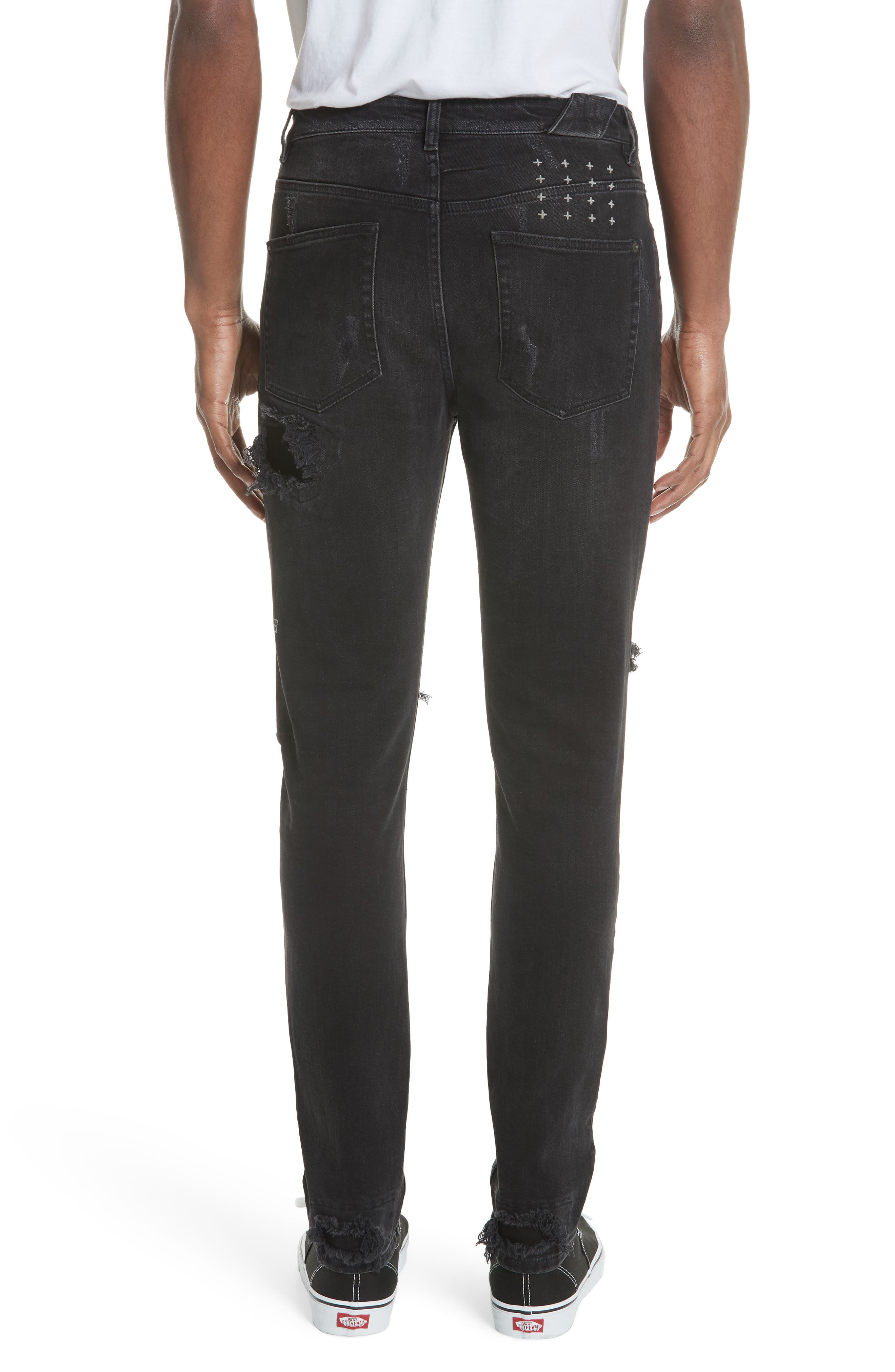 Chitch Boneyard Skinny Fit Jeans,                             Alternate thumbnail 3, color,                             BLACK