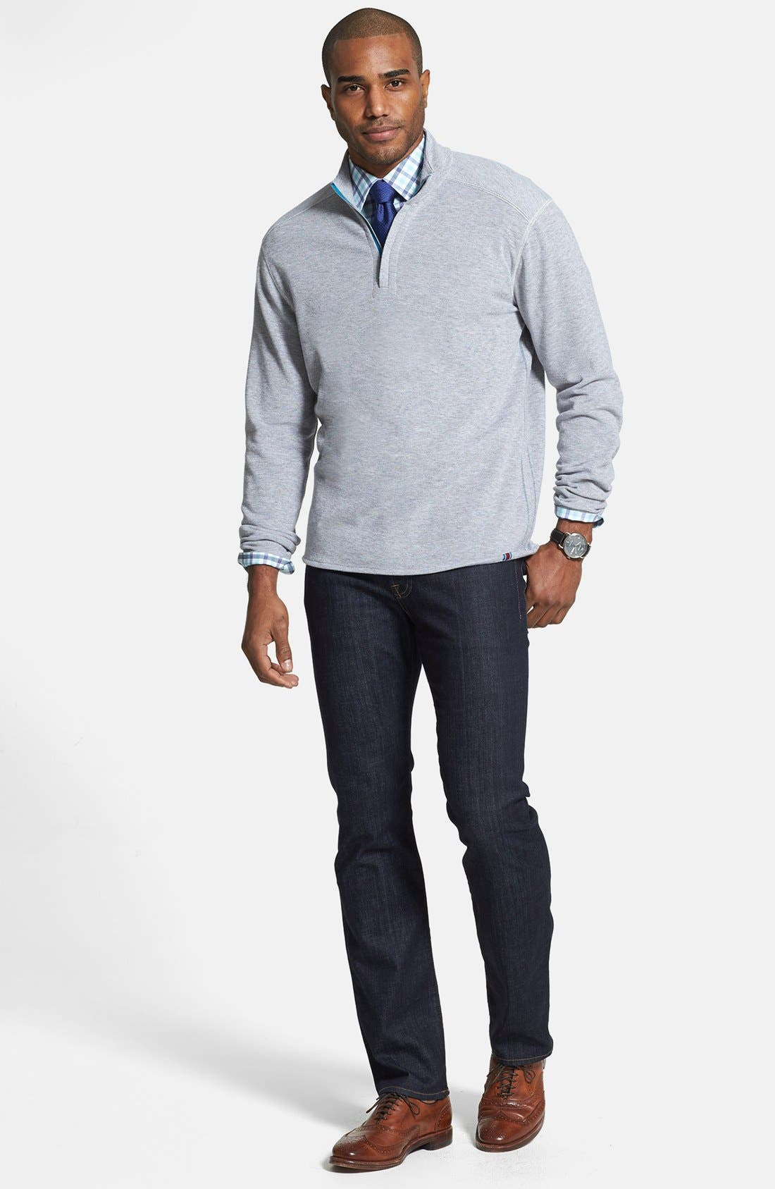 'Standard' Straight Leg Jeans,                             Alternate thumbnail 11, color,                             DARK AND CLEAN