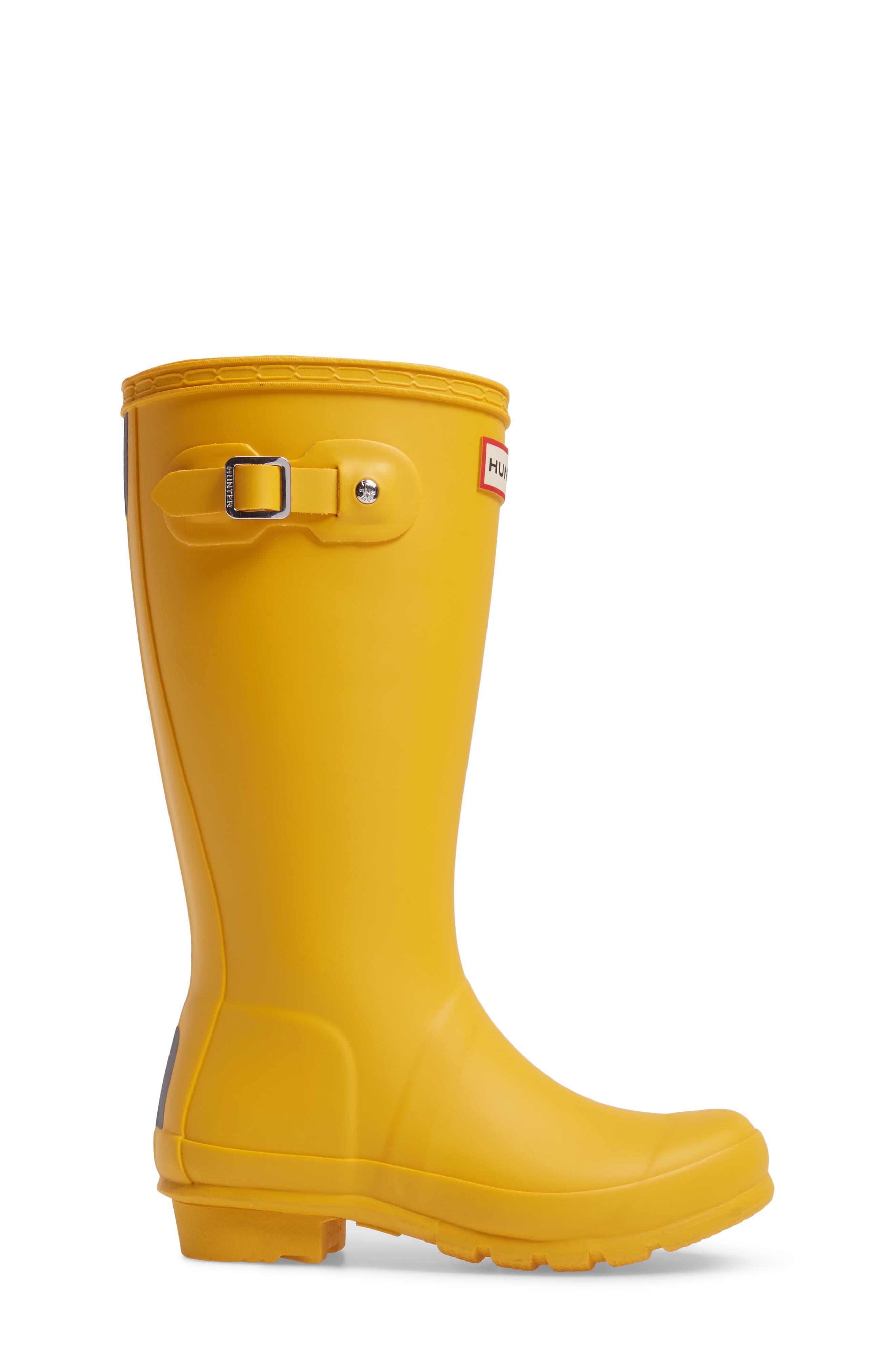 Original Rain Boot,                             Alternate thumbnail 3, color,                             YELLOW