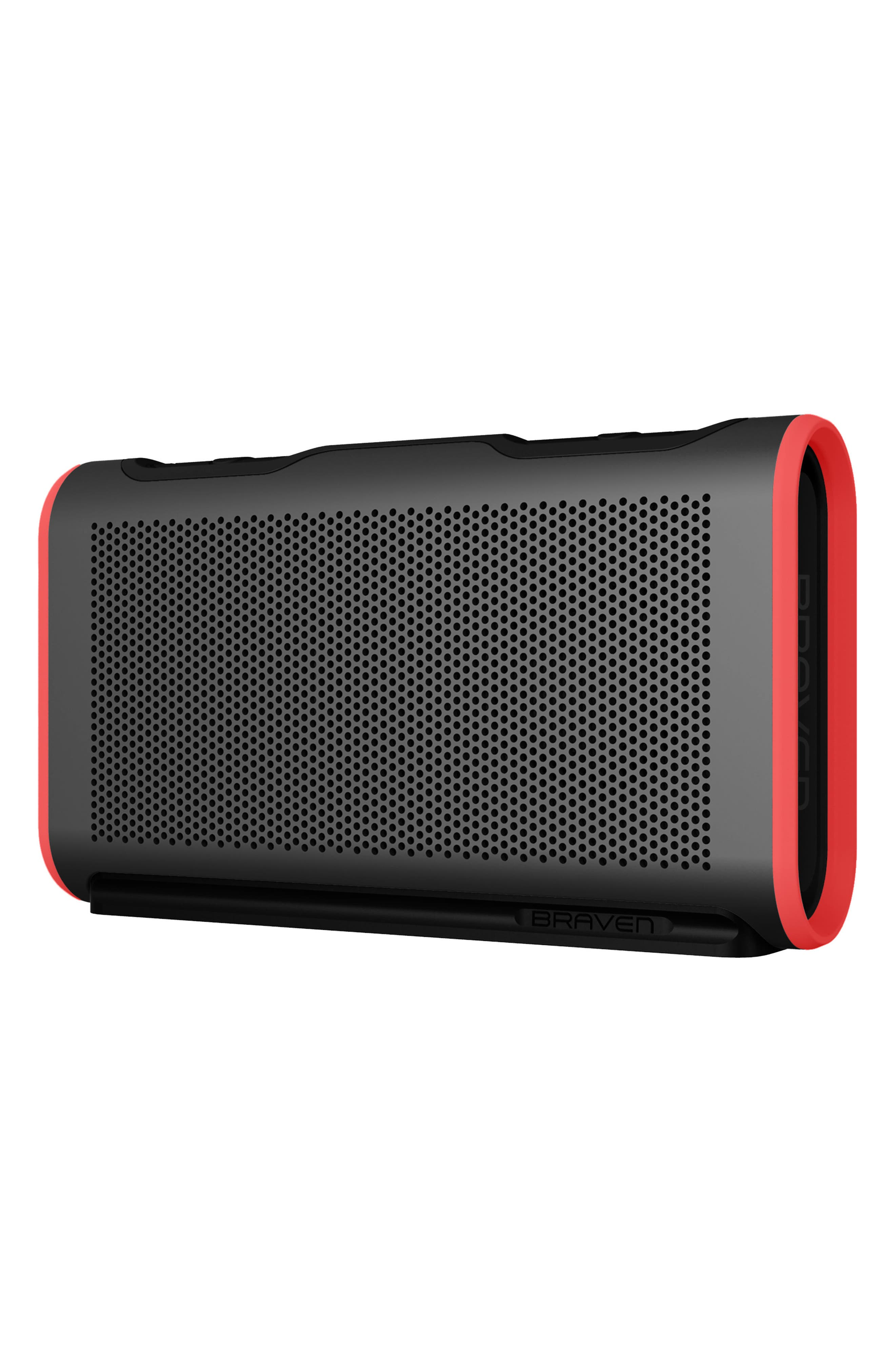 Stryde Waterproof Bluetooth Speaker,                             Alternate thumbnail 3, color,                             GREY/ RED