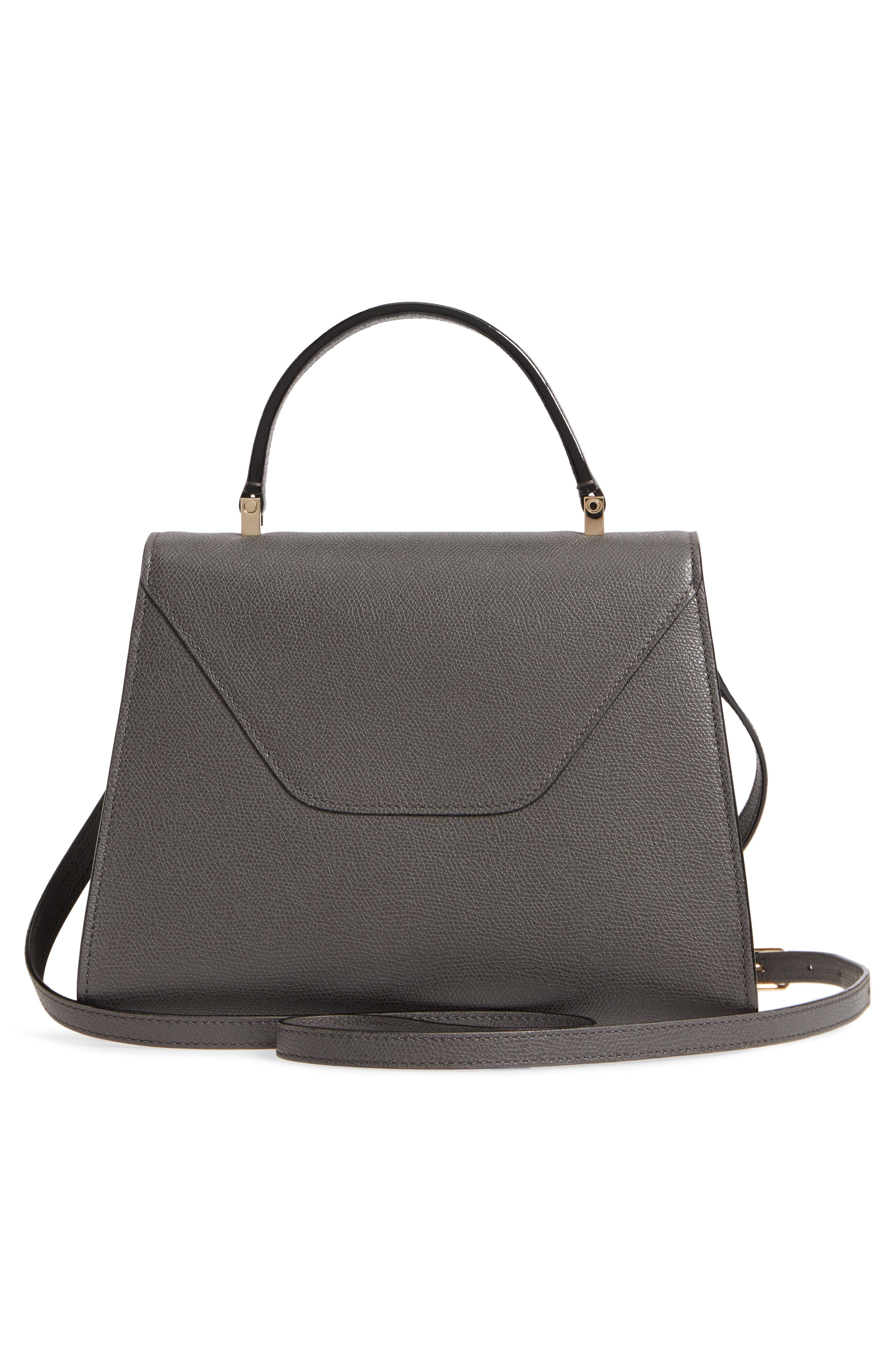 Iside Medium Top Handle Bag,                             Alternate thumbnail 3, color,                             FUMO DI LONDRA