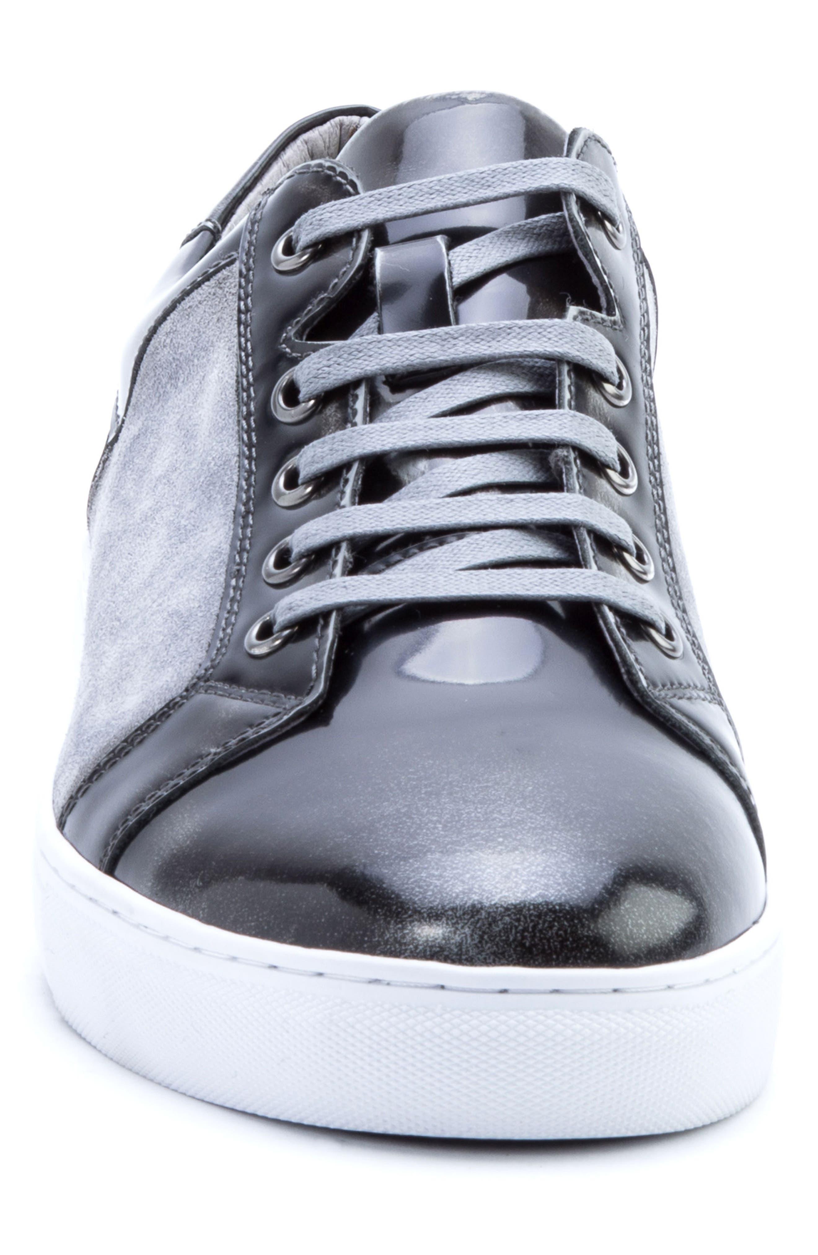Lockhart Sneaker,                             Alternate thumbnail 4, color,                             BLACK LEATHER