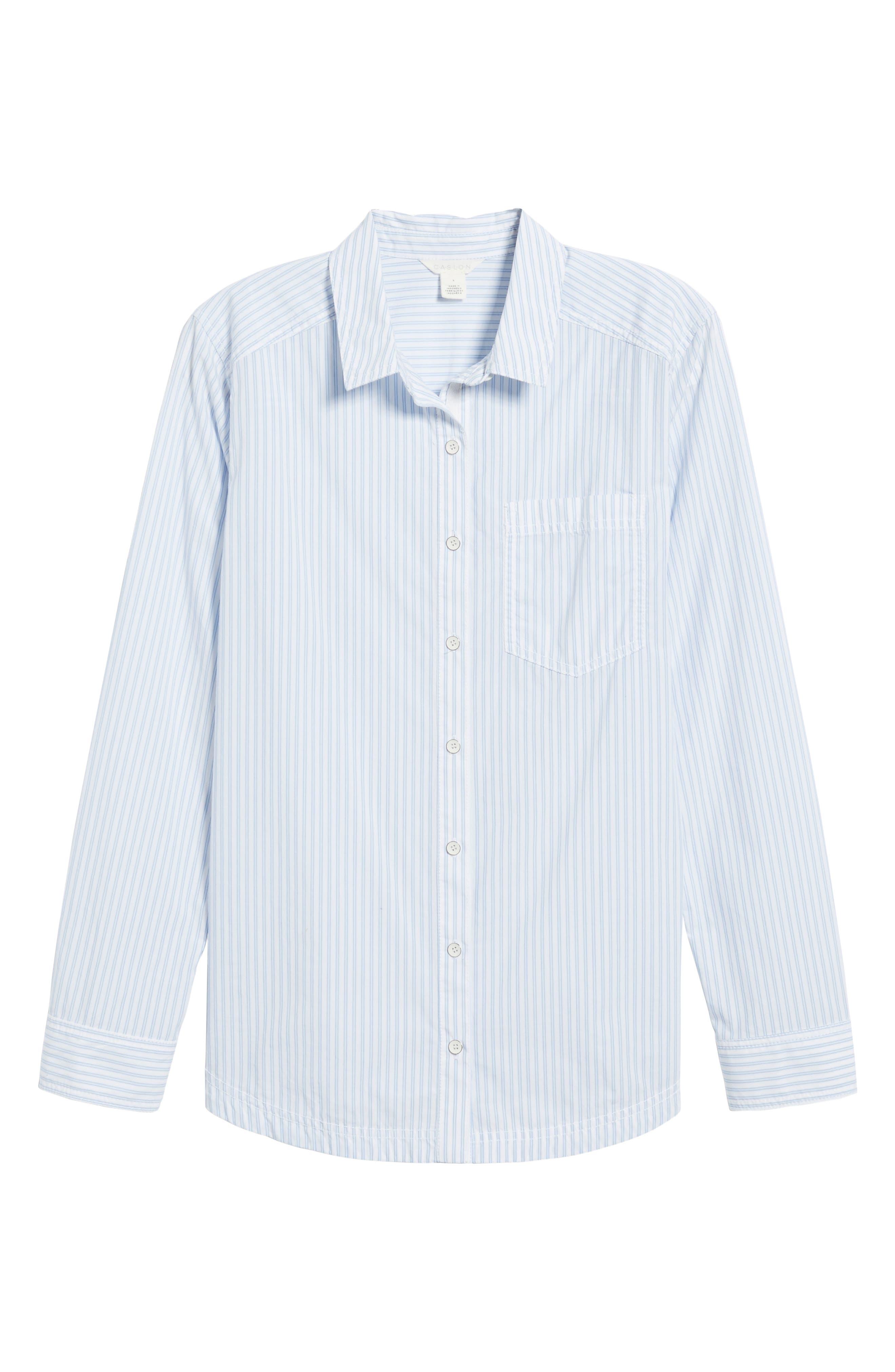 Button Front Pocket Shirt,                             Alternate thumbnail 6, color,                             420