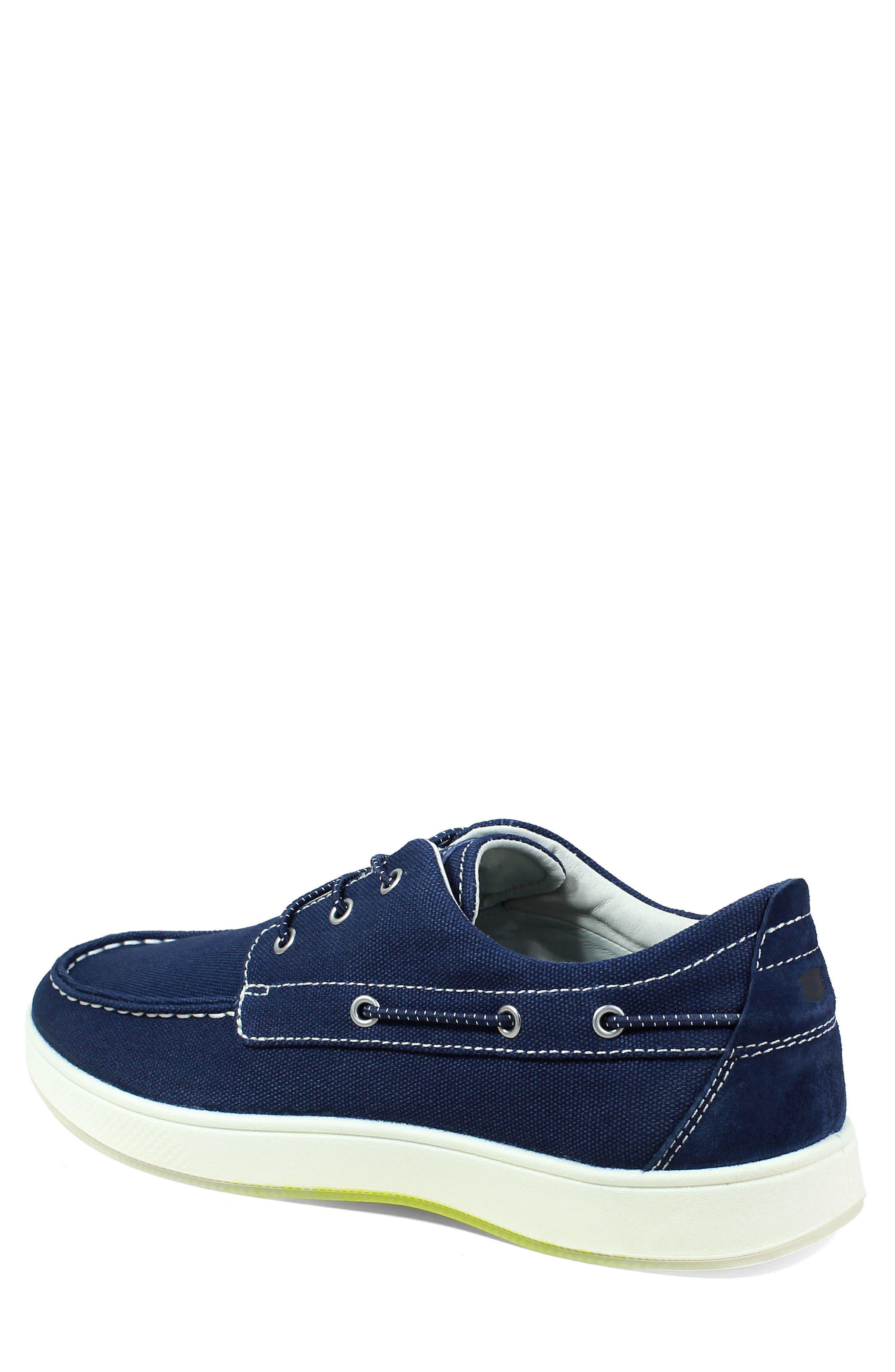 Edge Boat Shoe,                             Alternate thumbnail 2, color,                             NAVY CANVAS